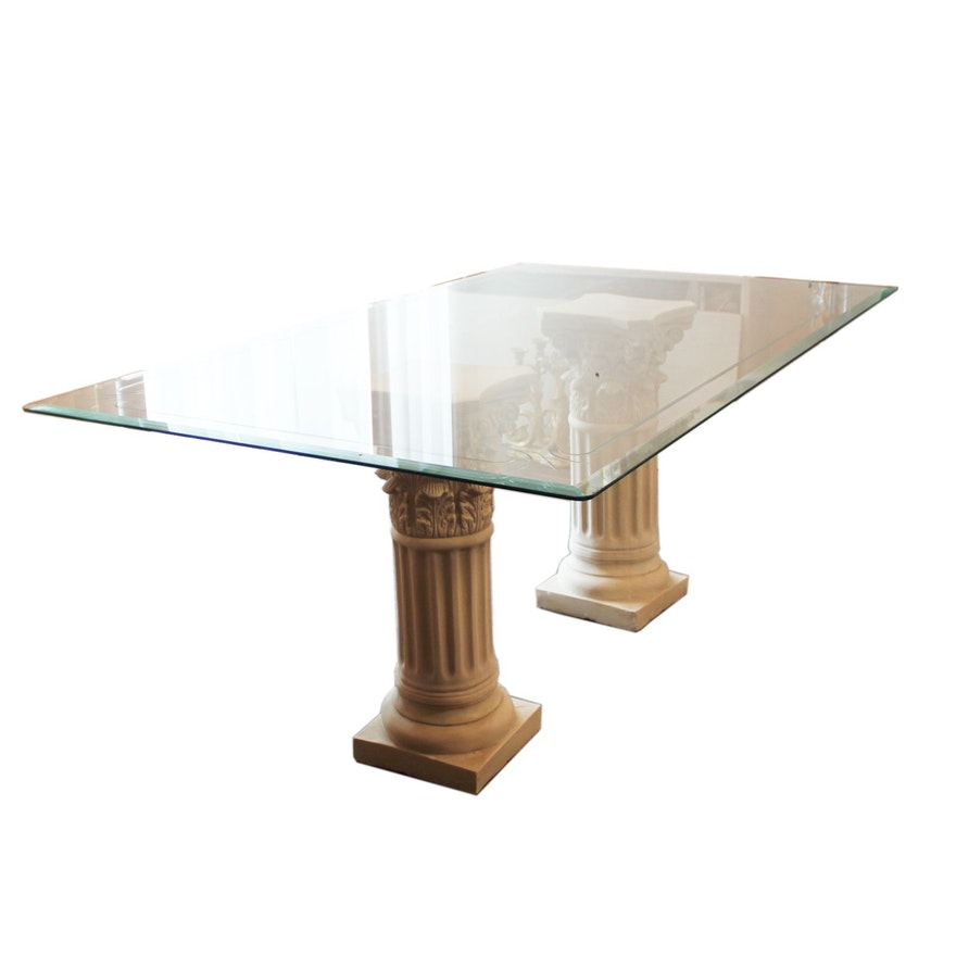 Gl Table With Corinthian Column Base