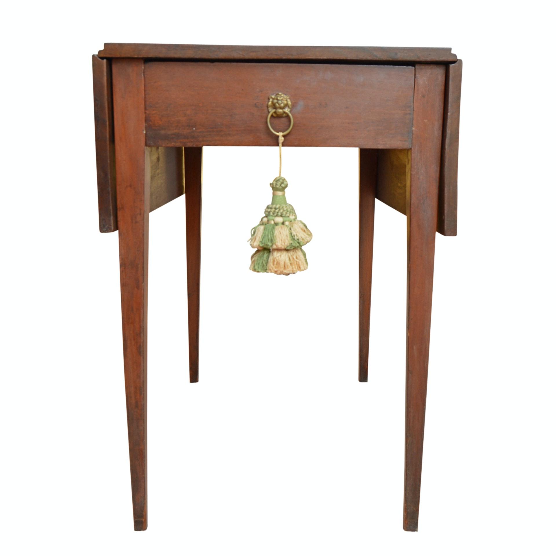 Antique Sheraton Style Pembroke Mahogany Table
