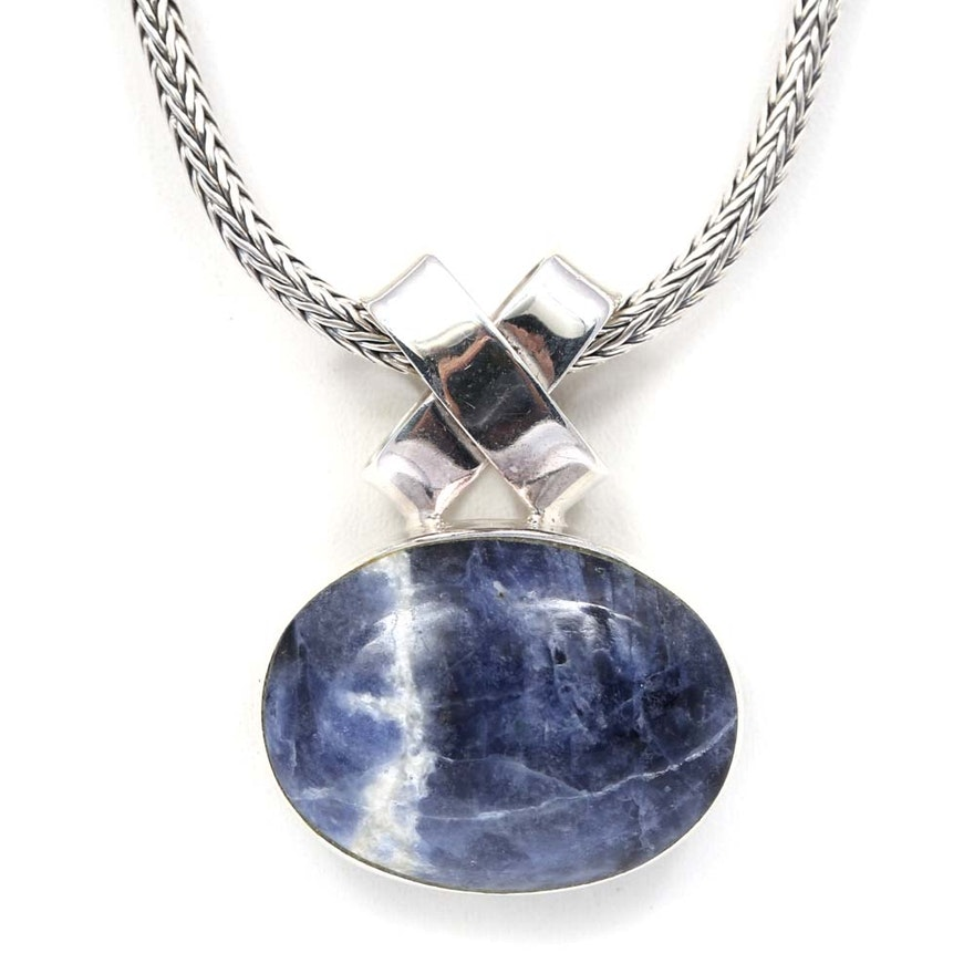 shaped triangle lovethemarts product sodalite pendant