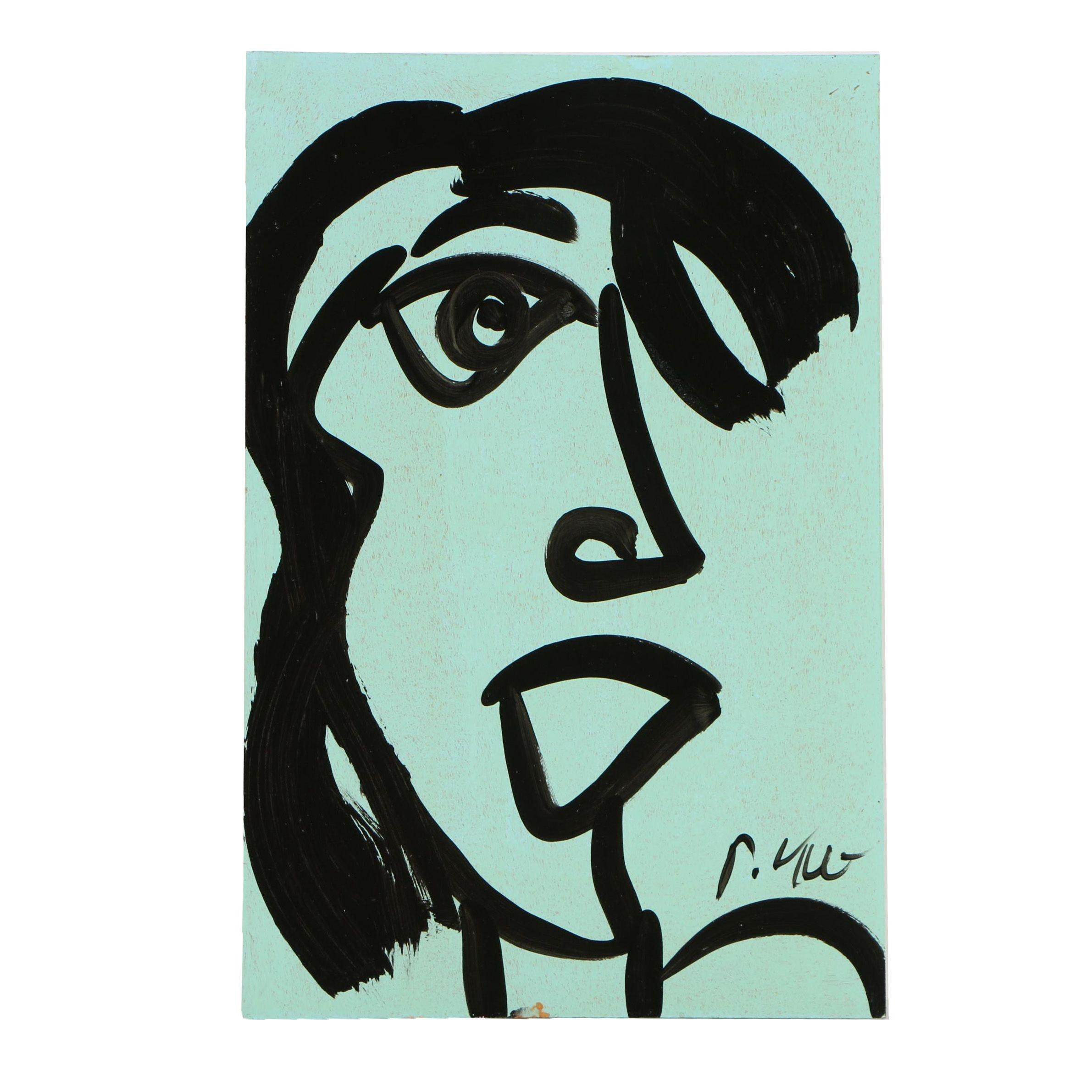 """Peter Keil Oil Painting """"Elvis Presley"""""""
