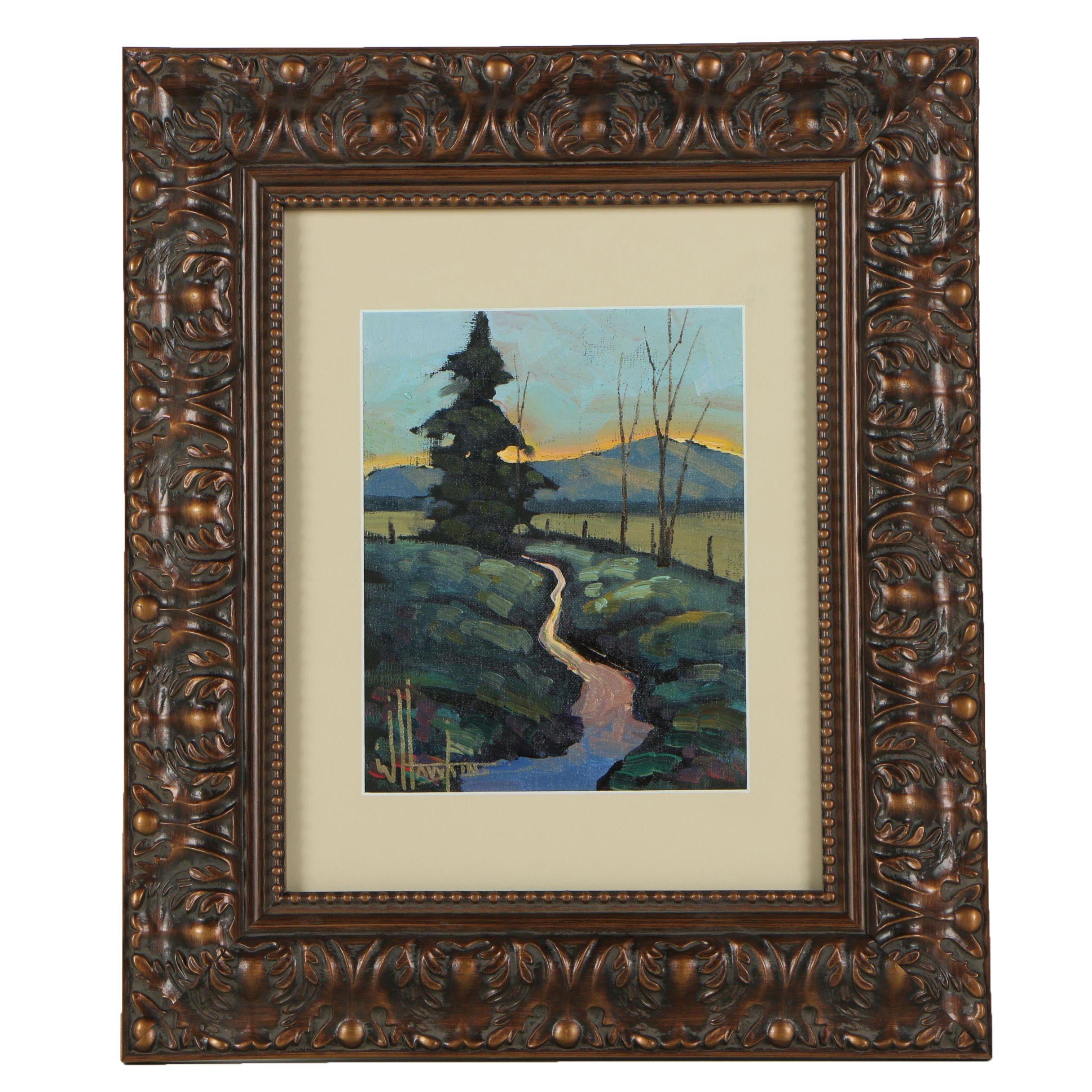 W. Hawkins Oil Painting