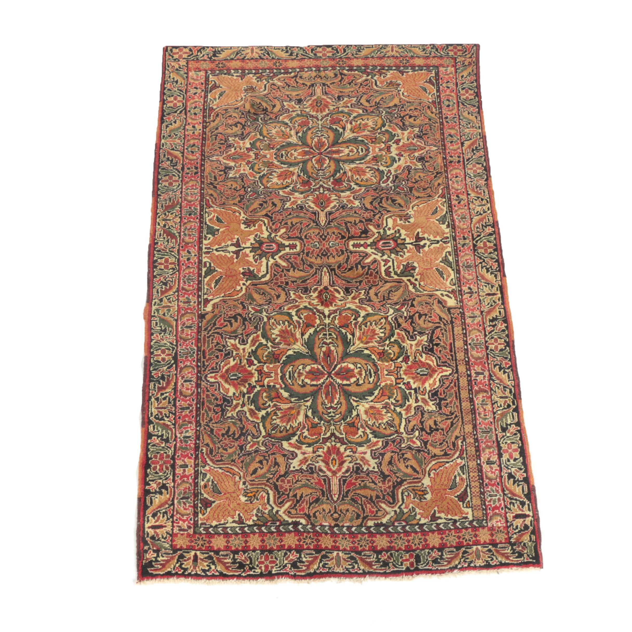 Hand-Knotted Persian Baluch Floral Area Rug