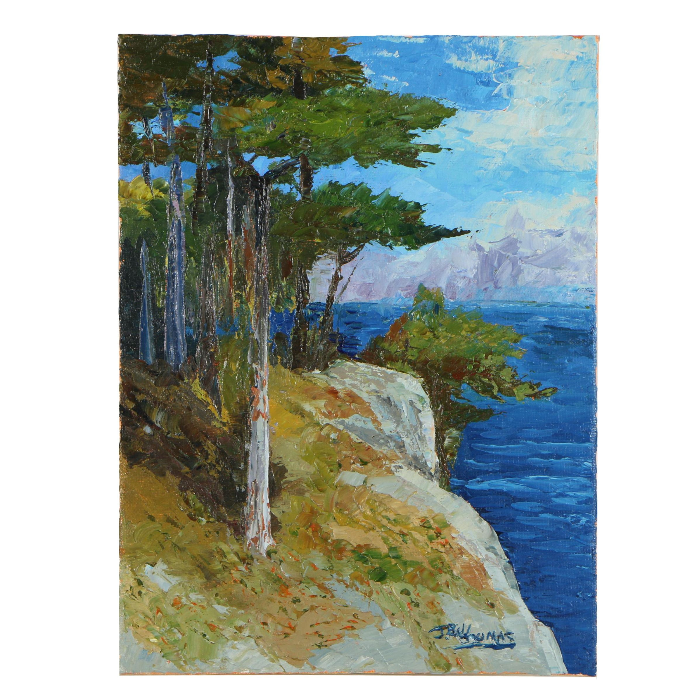 """James Baldoumas Oil Painting """"Sea Pines"""""""