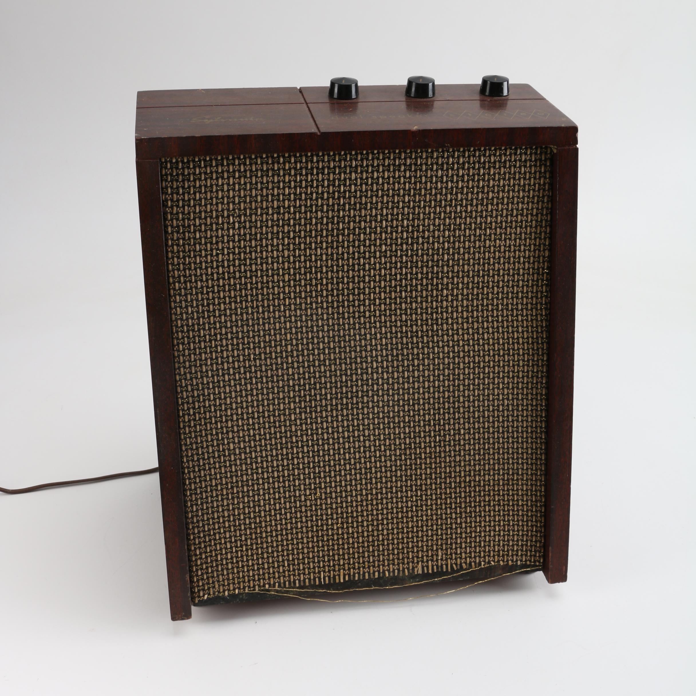 Vintage Sylvania SCO3M Dual Stereo Speaker