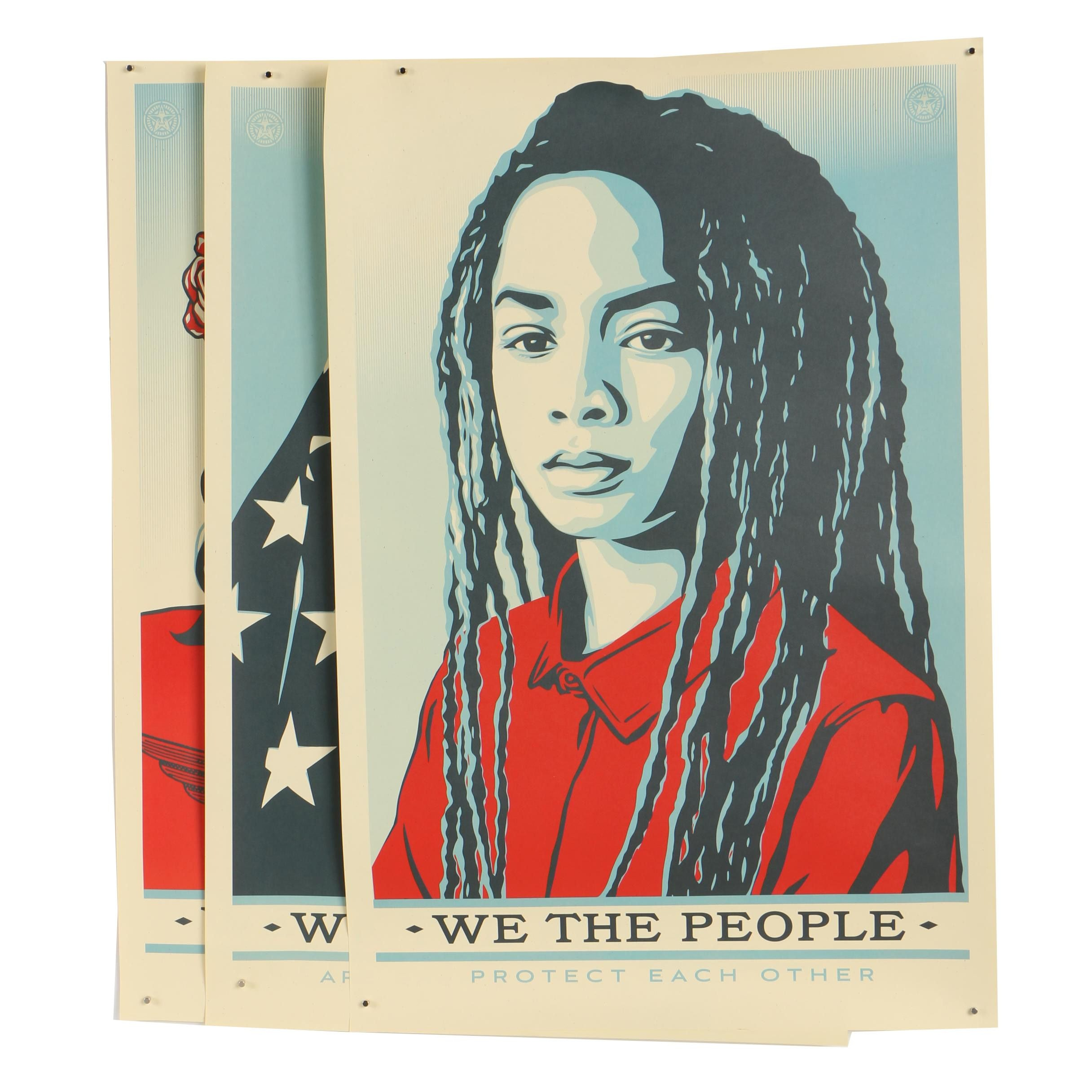"""Shepard Fairey Offset Prints """"We the People"""""""