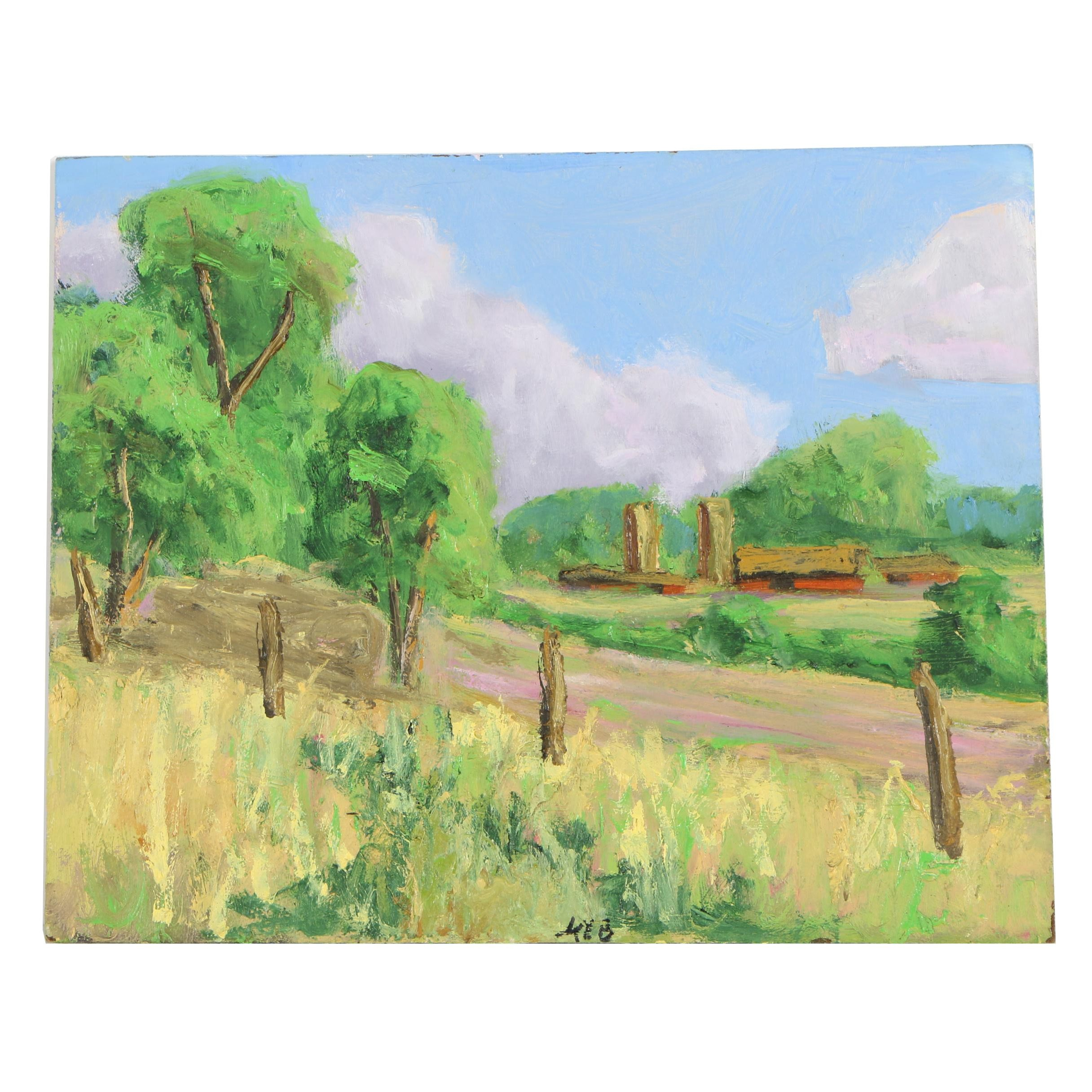 Kenneth R. Burnside Oil Painting