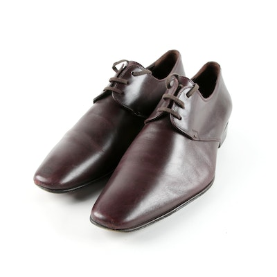 ef0a723bba6f Men s Dior Homme Brown Leather Derby Shoes