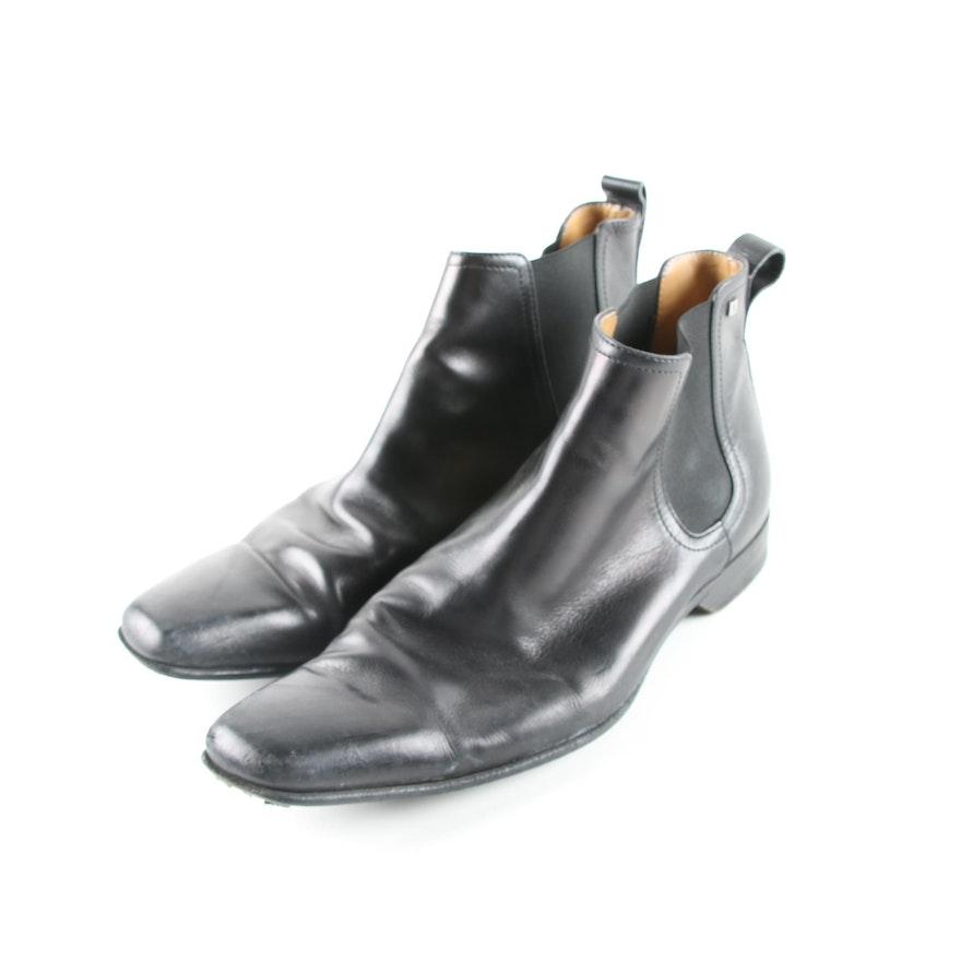 026897fa2d36 Men s Louis Vuitton of Paris Chelsea Black Leather Boots   EBTH