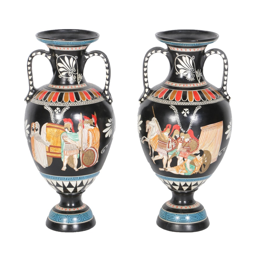Hand Painted Greek Ceramic Vases Ebth