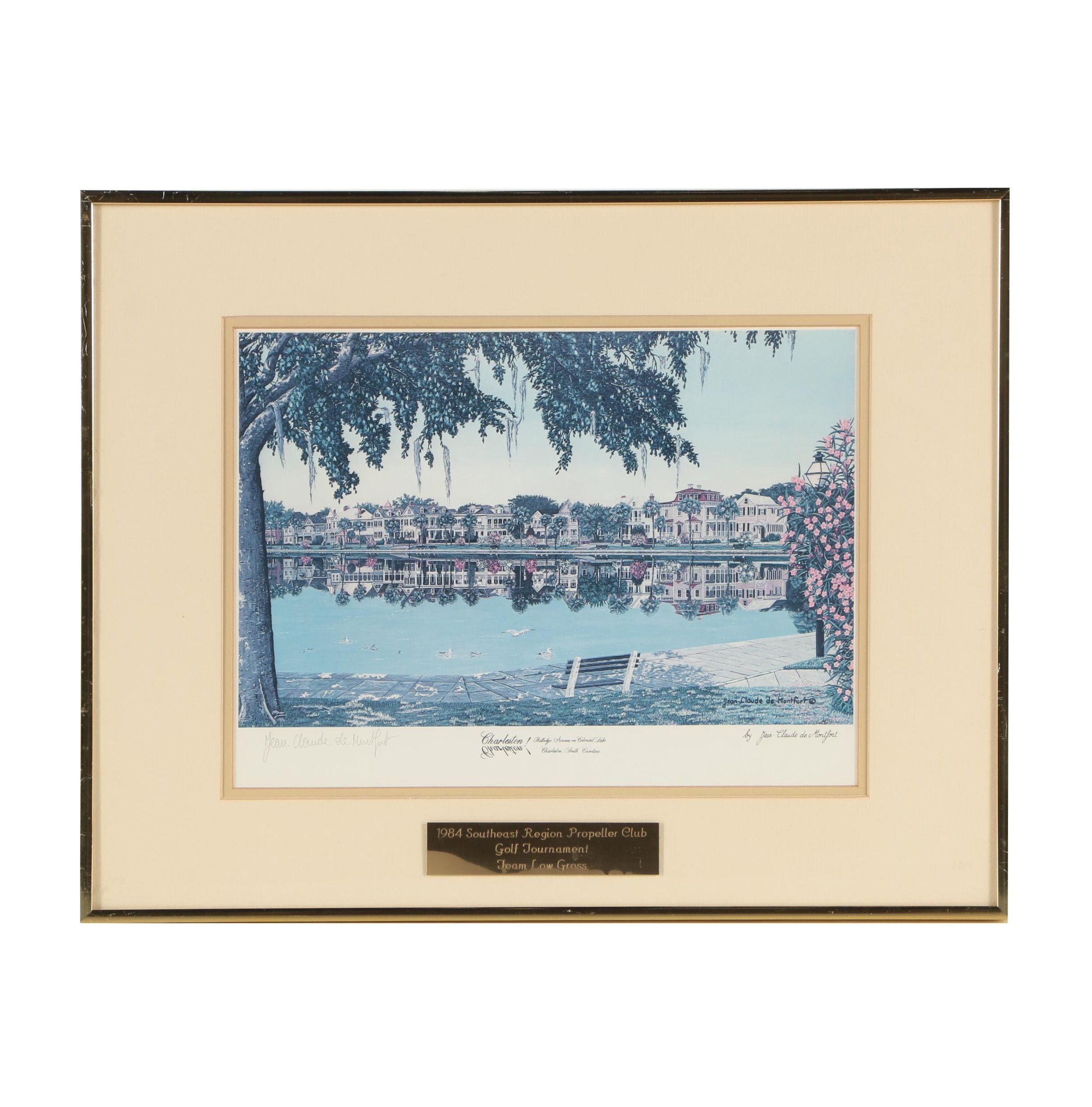 "Jean - Claude de Montfort Offset Lithograph ""Charleston!"""