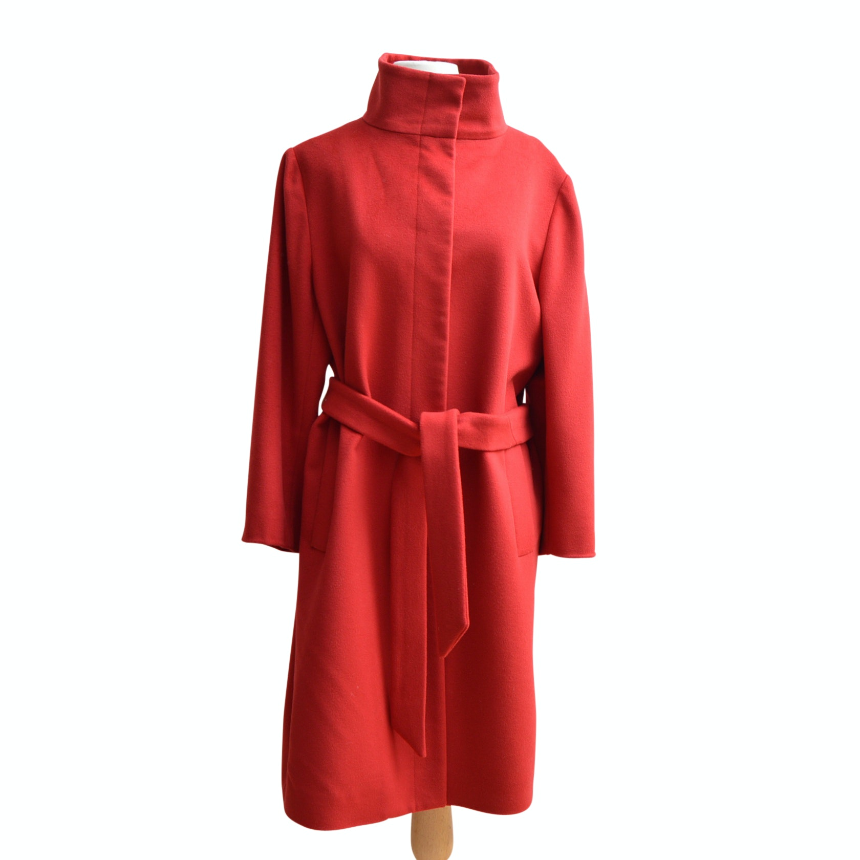 Burberry Red Wool and Cashmere Coat