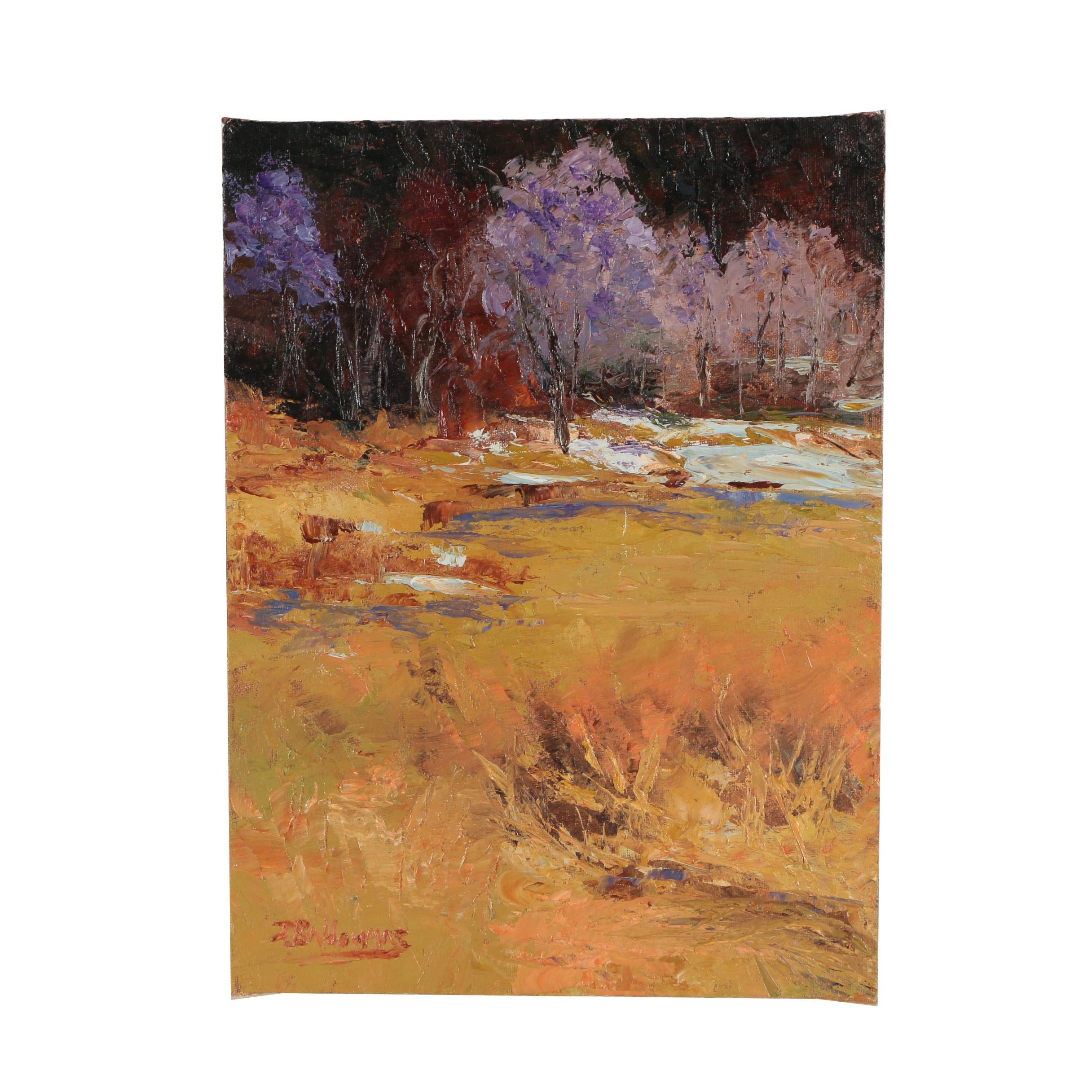 "James Baldoumas Oil Painting ""Marshland"""