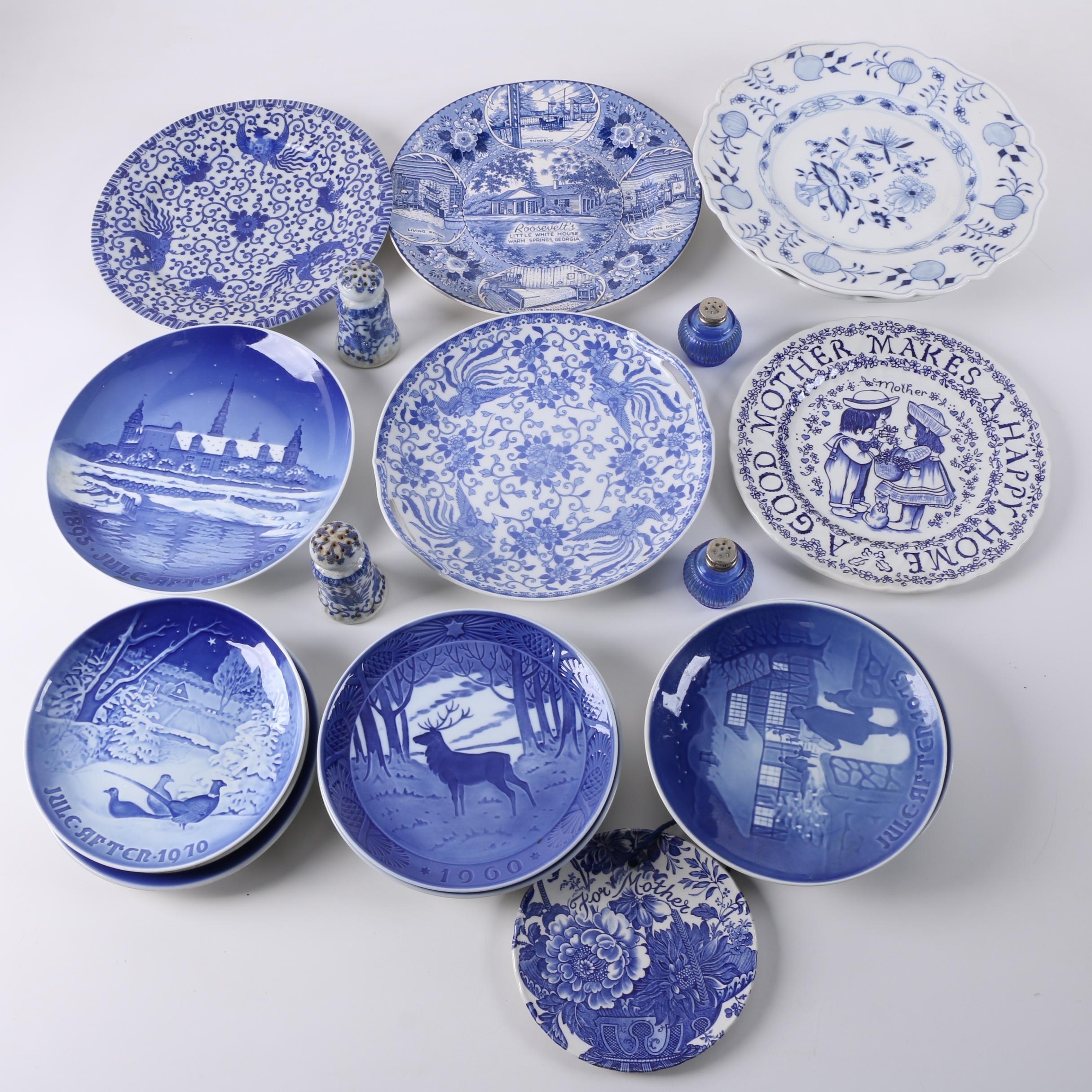 Collectible Bing & Grøndahl with Carl Teichert Meissen Blue and White Tableware
