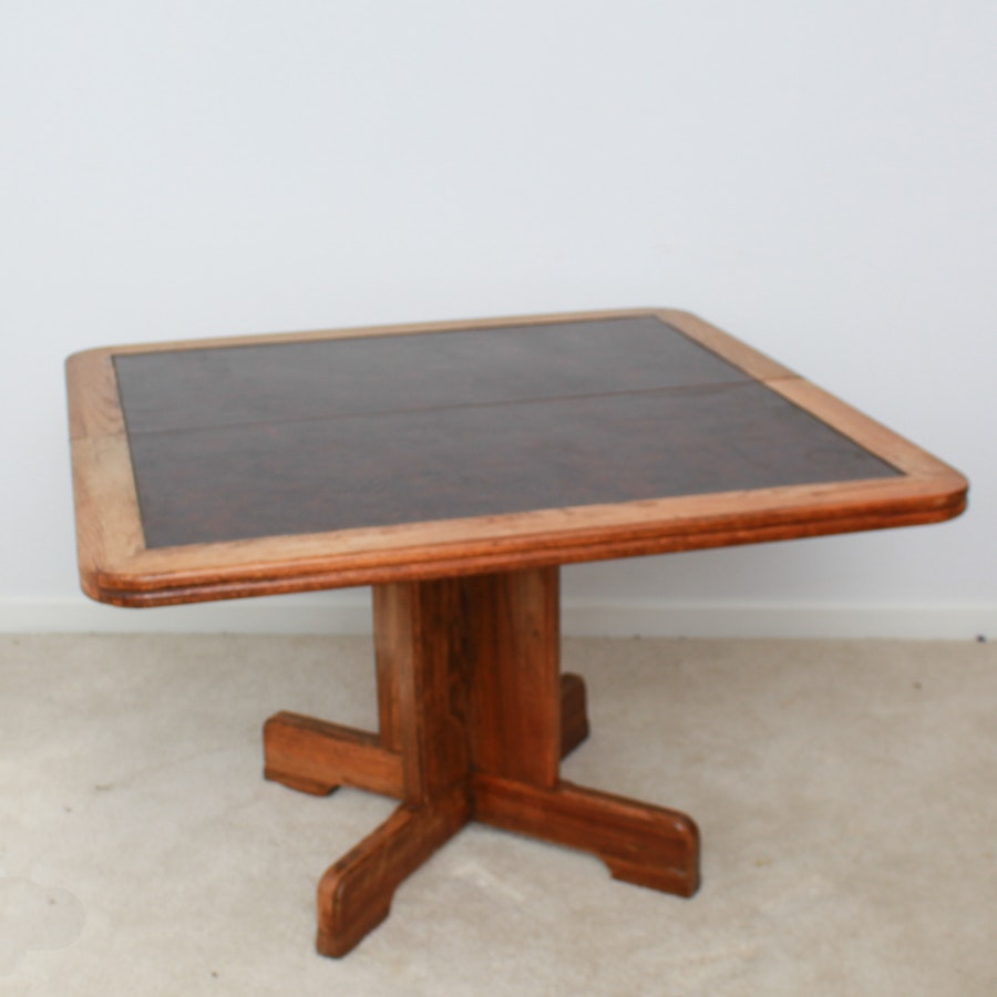 Vintage Oak Card Table