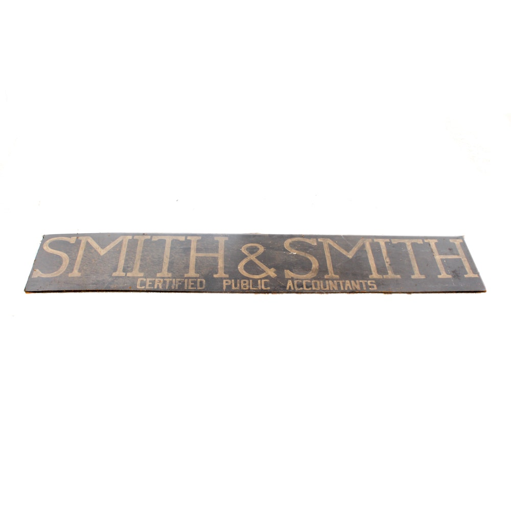 Smith & Smith Public Accountants Sign