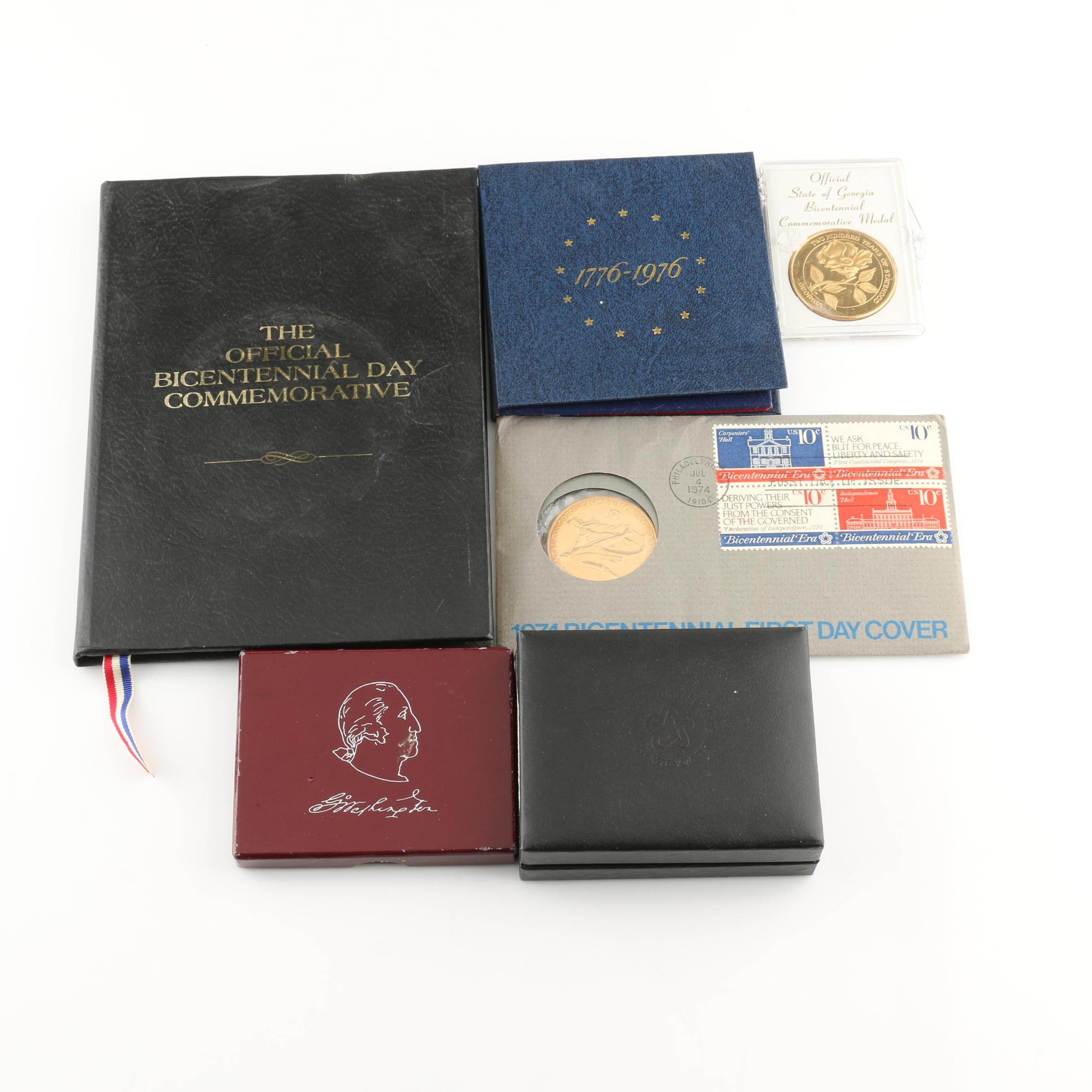 Group of Eight Commemorative Metals and Coins