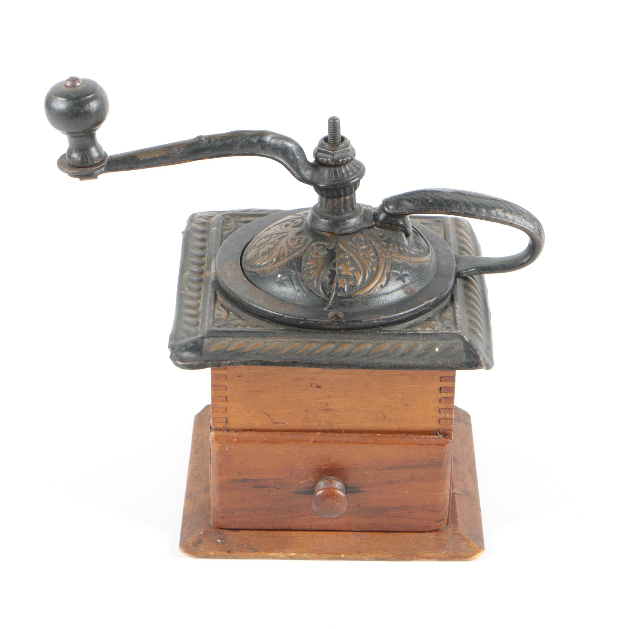 Antique Wooden Coffee Grinder