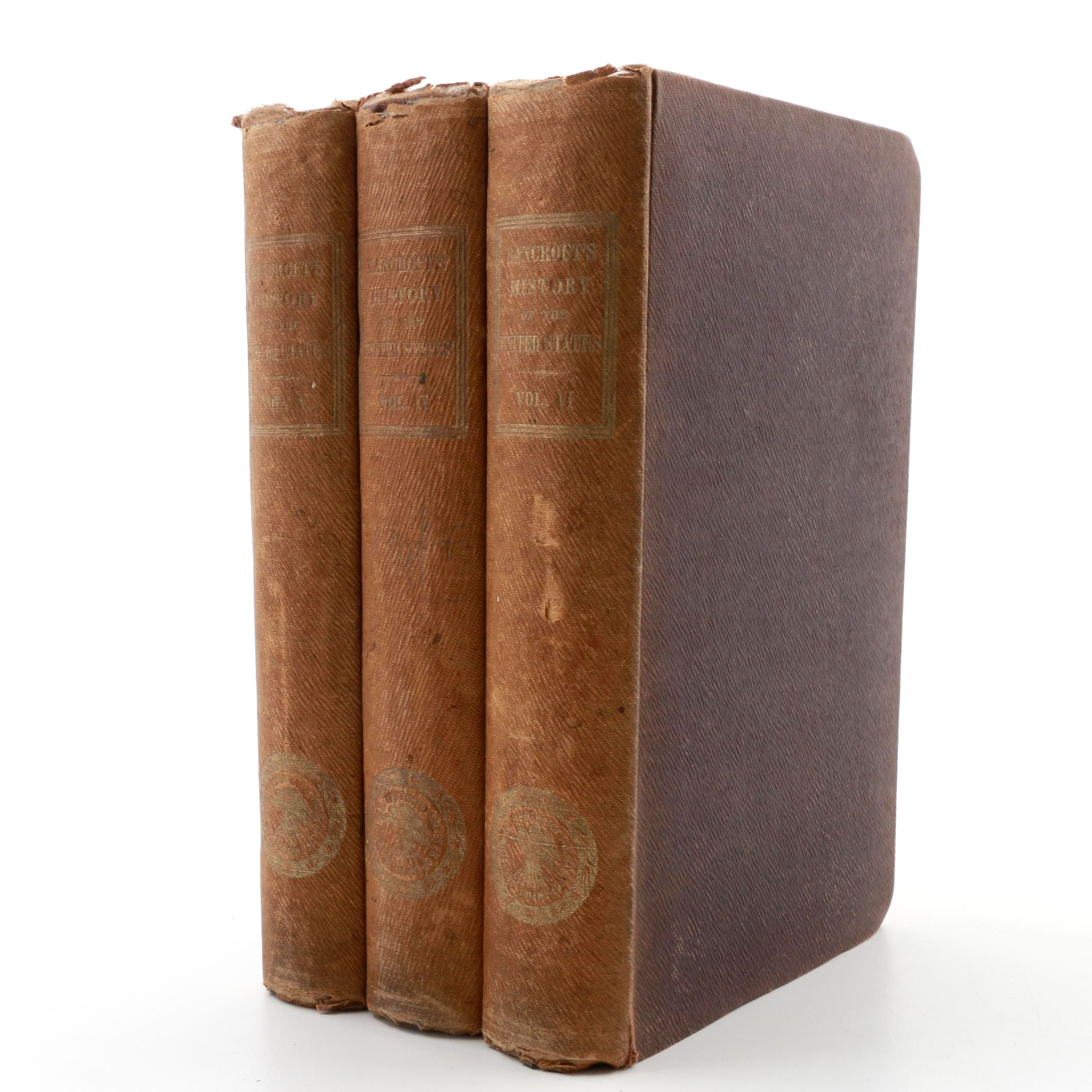 "Three Volumes ""History of the United States"" by George Bancroft"