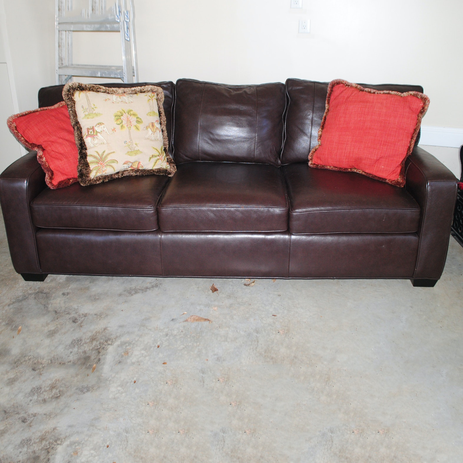 Brown Leather Sofa By Arhaus Furniture ...