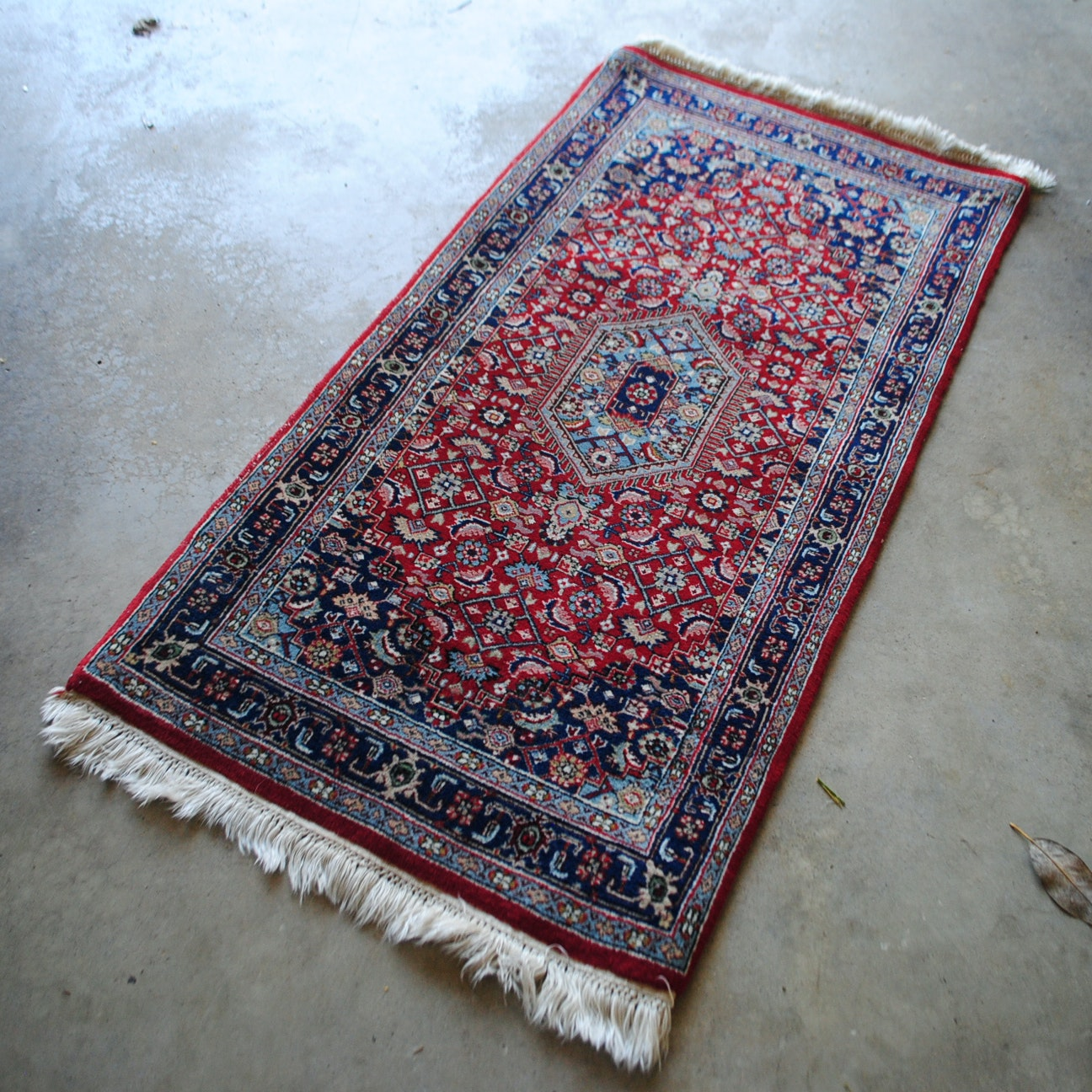 Hand-Knotted Indo-Persian Bijar Accent Rug
