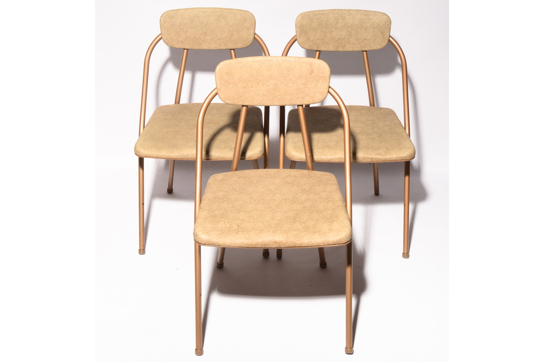 Mid Century Modern Gold Folding Chairs