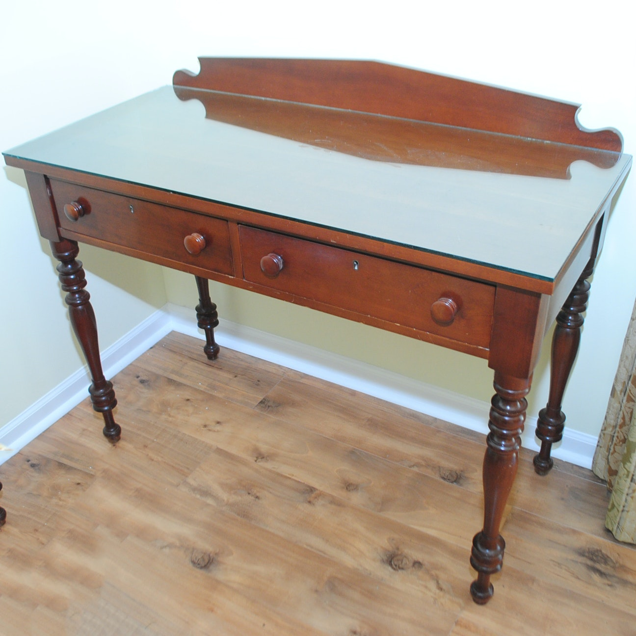 Vintage Federal Style Kentucky Cherry Writing Table by Cassady Furniture Co.