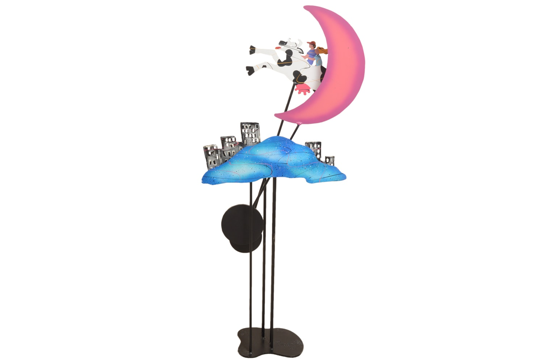"Fredrick Prescott Kinetic Sculpture ""Cow Jumped Over the Moon"""
