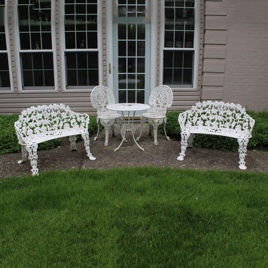 White Wrought Iron Patio Furniture : EBTH