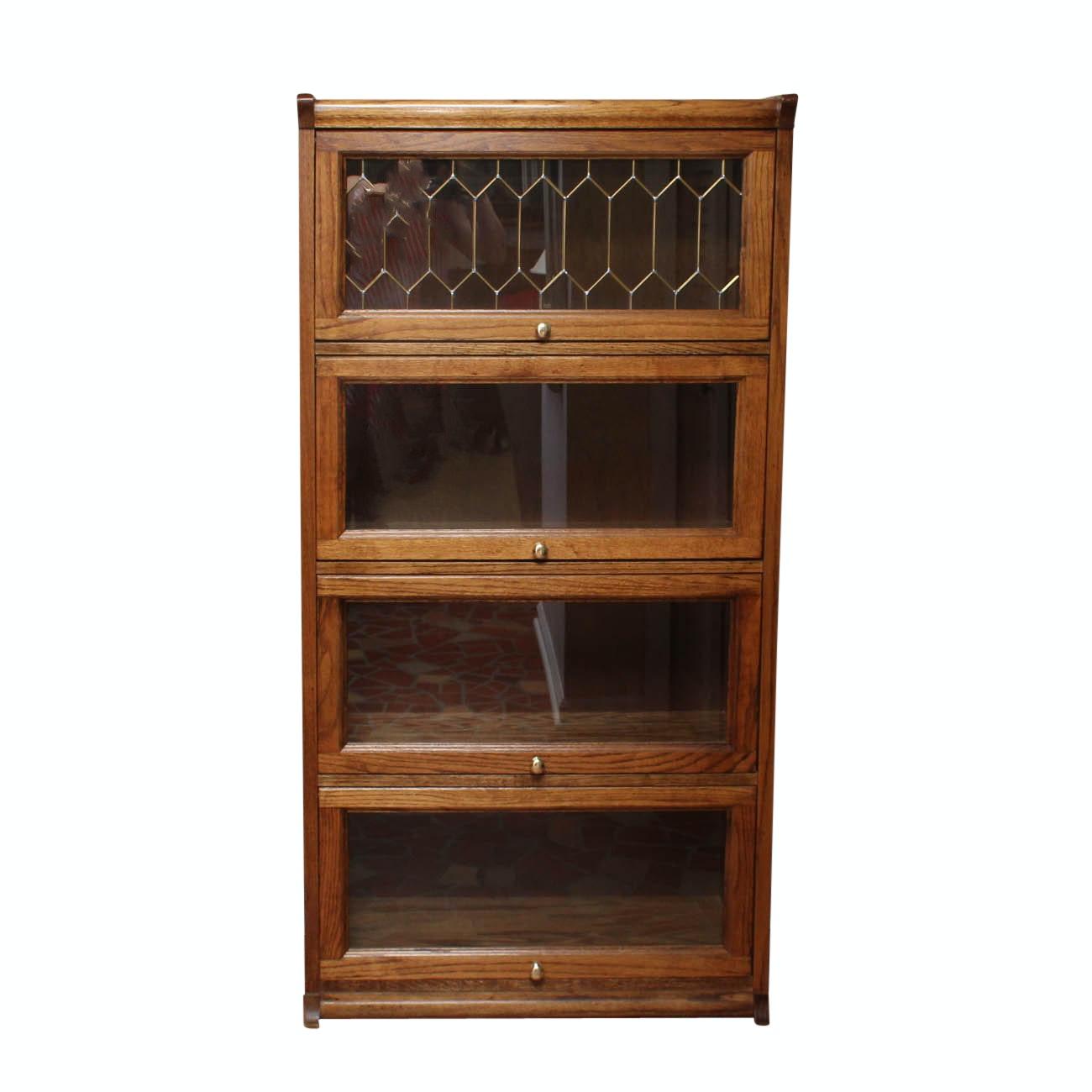 Vintage Oak Barrister's Bookcase