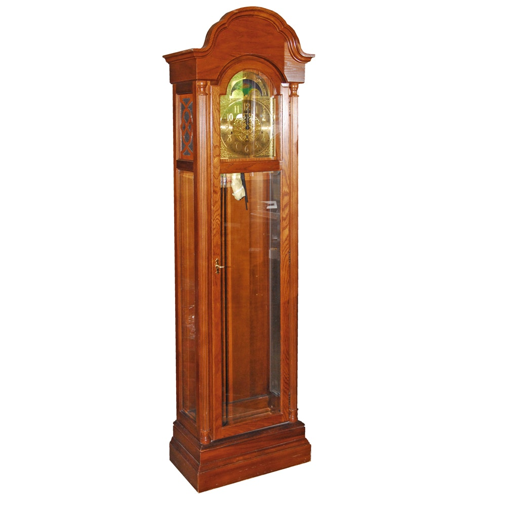 Ridgeway Oak Grandfather Clock with Moon Phase Dial