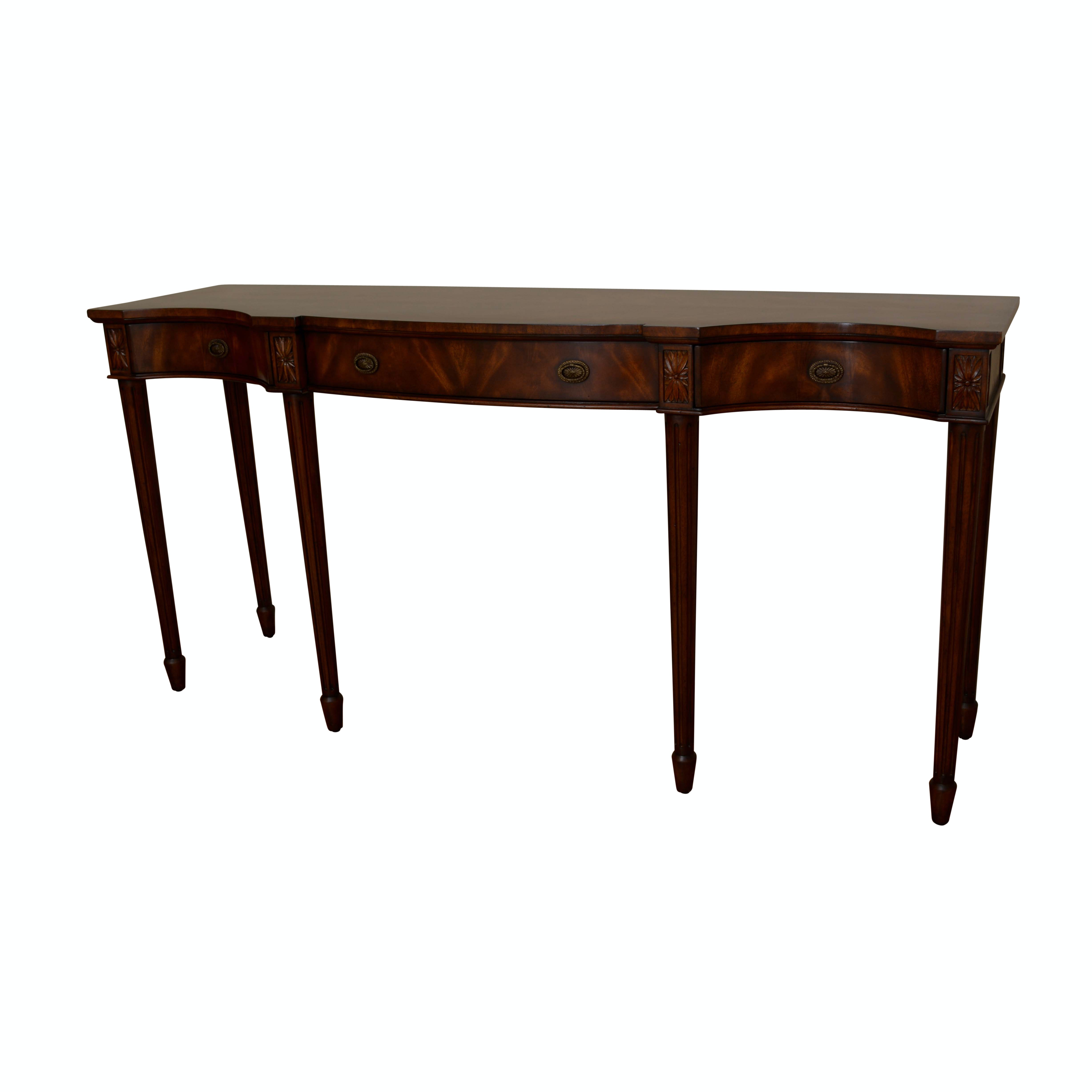 Sheraton Style Console Table by Sherrill