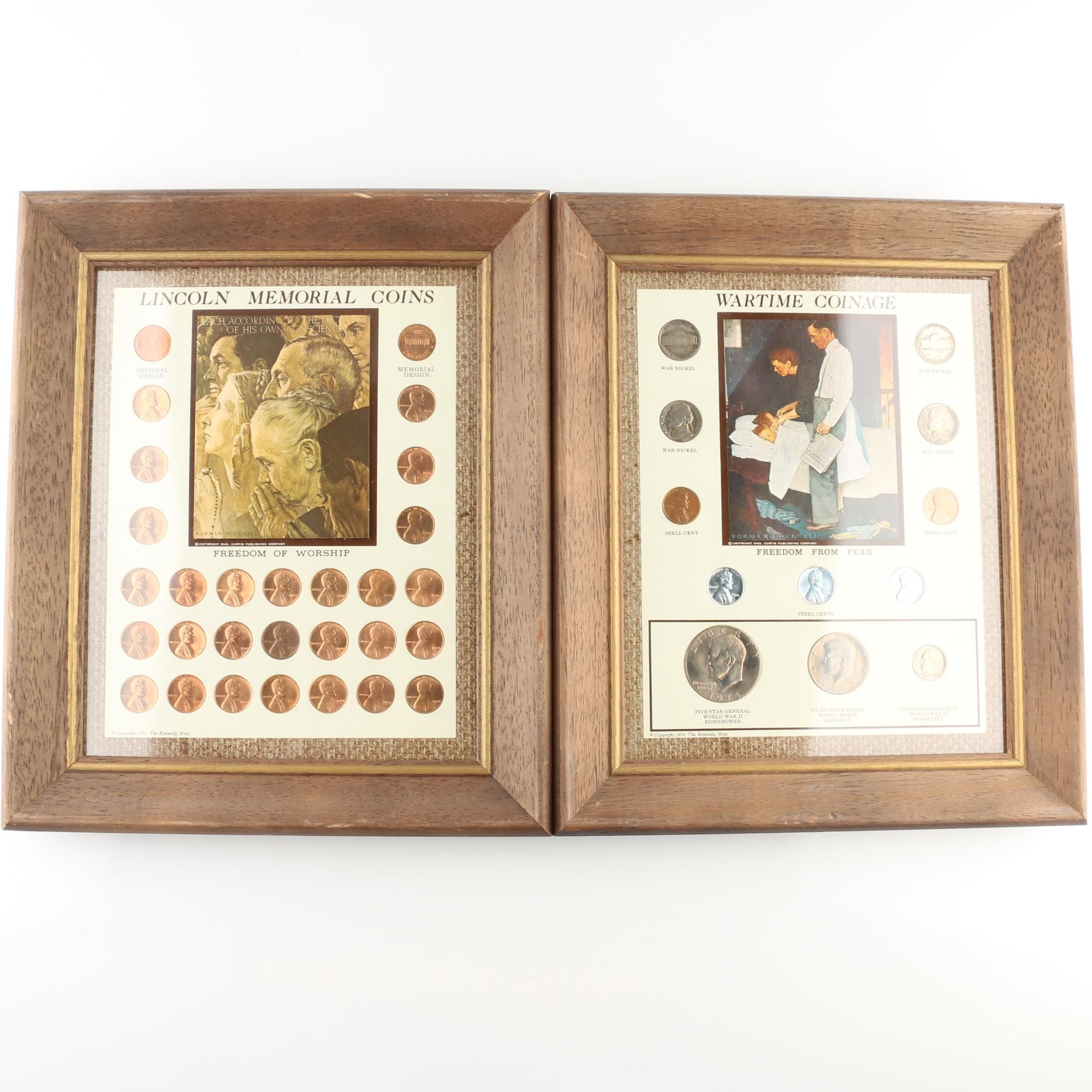 Two Framed Vintage U.S. Coin Sets