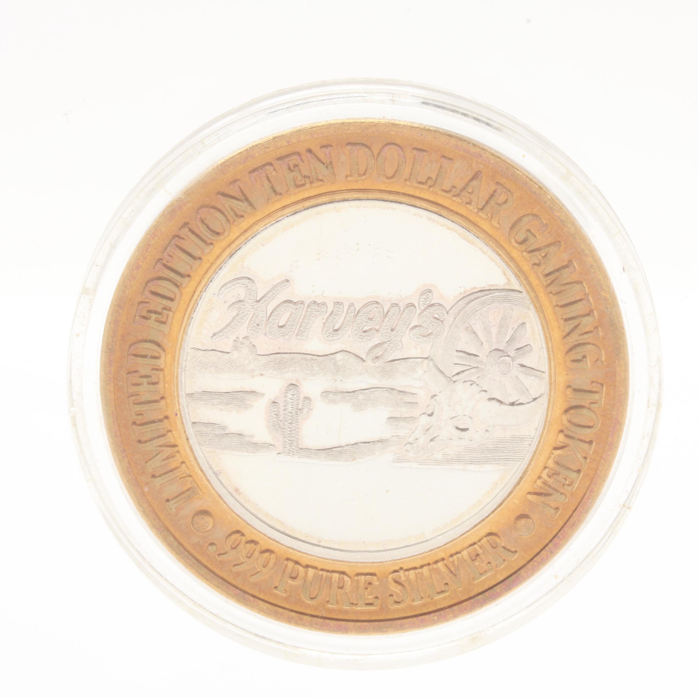 Limited Edition Fine Silver and Copper Harveys Gaming Token