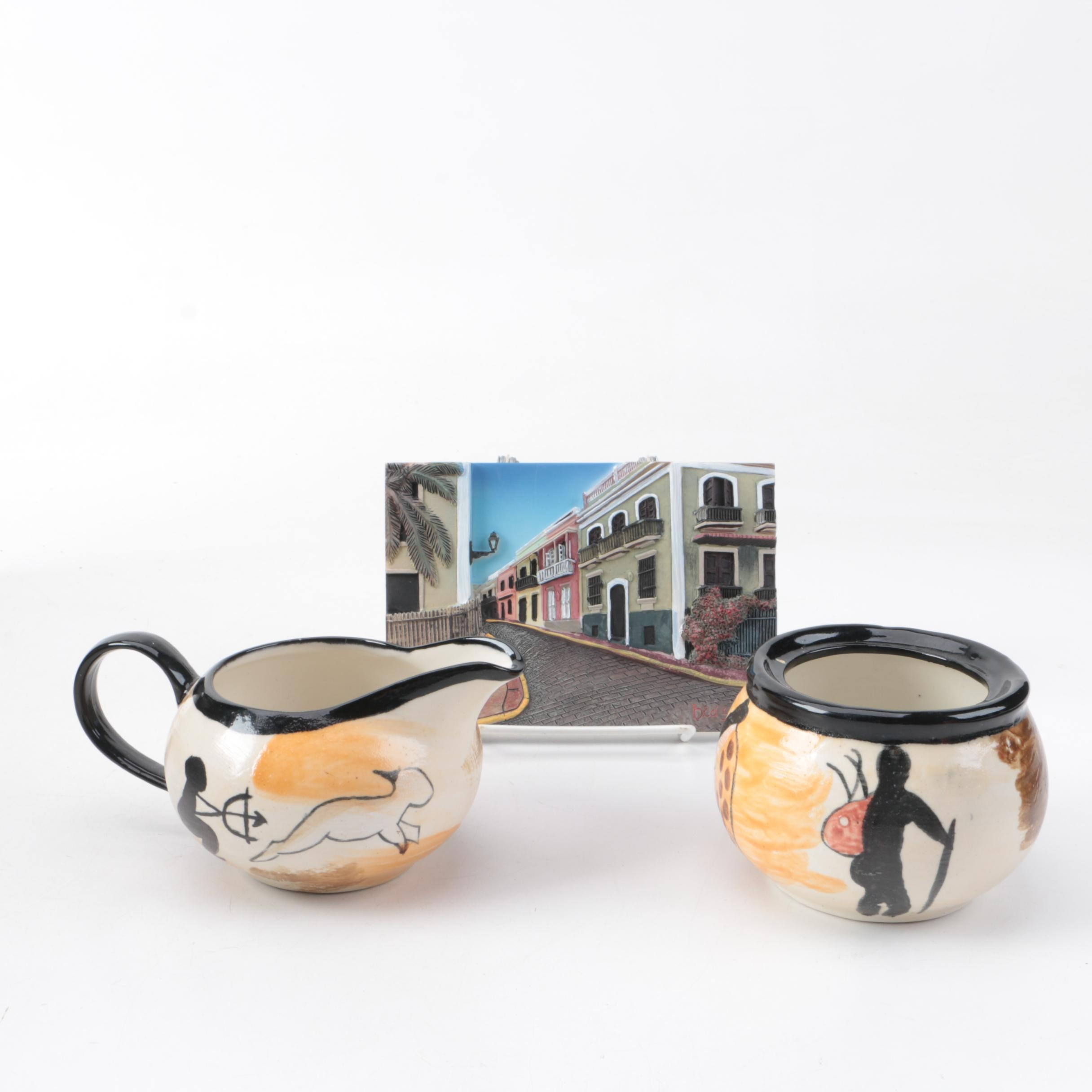 Signed Hand-Painted South African Slip Cast Tableware . & South African Dinnerware u0026 AQUARELLE BUTTERFLIES PORCELAIN TABLEWARE