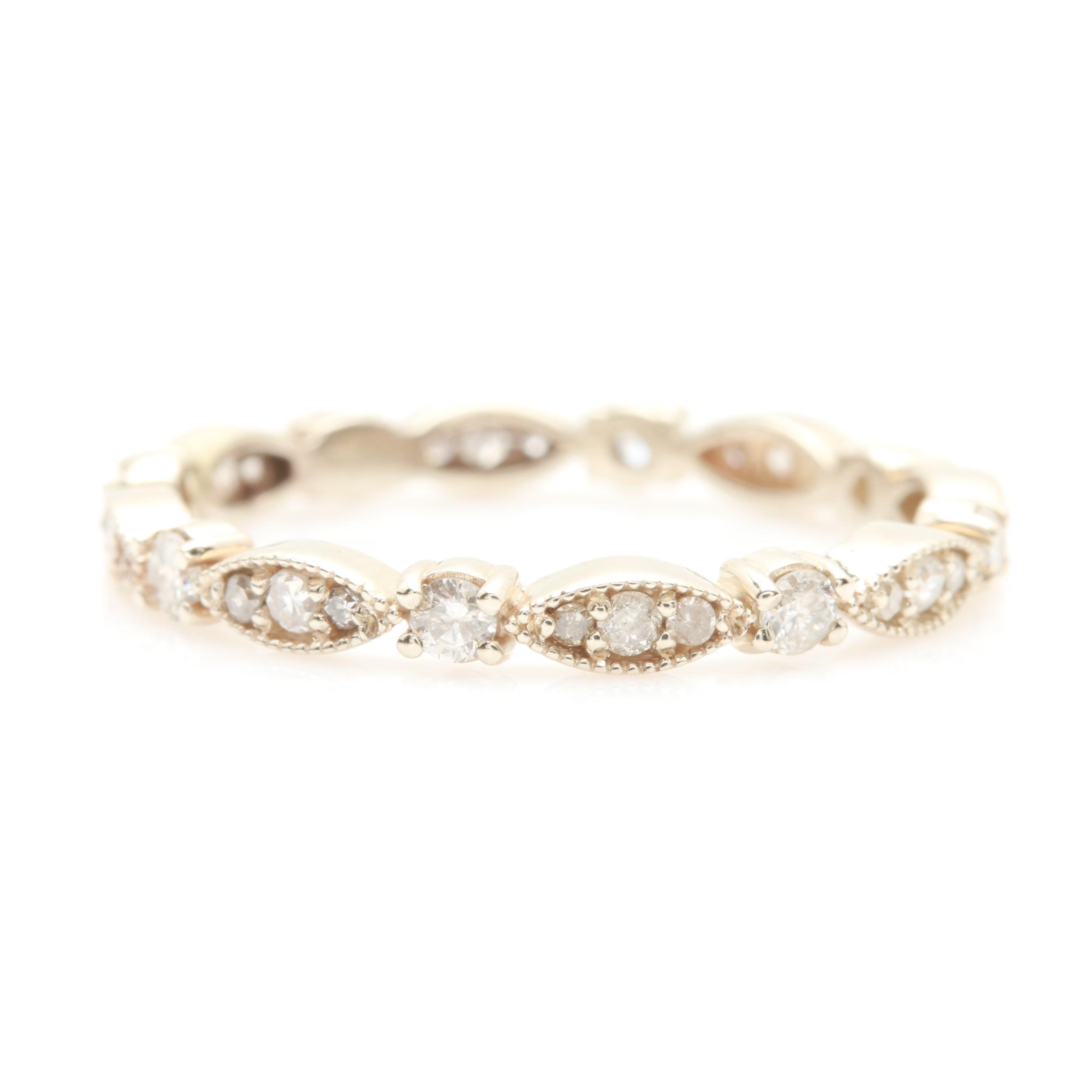 14K White Gold Diamond Eternity Ring