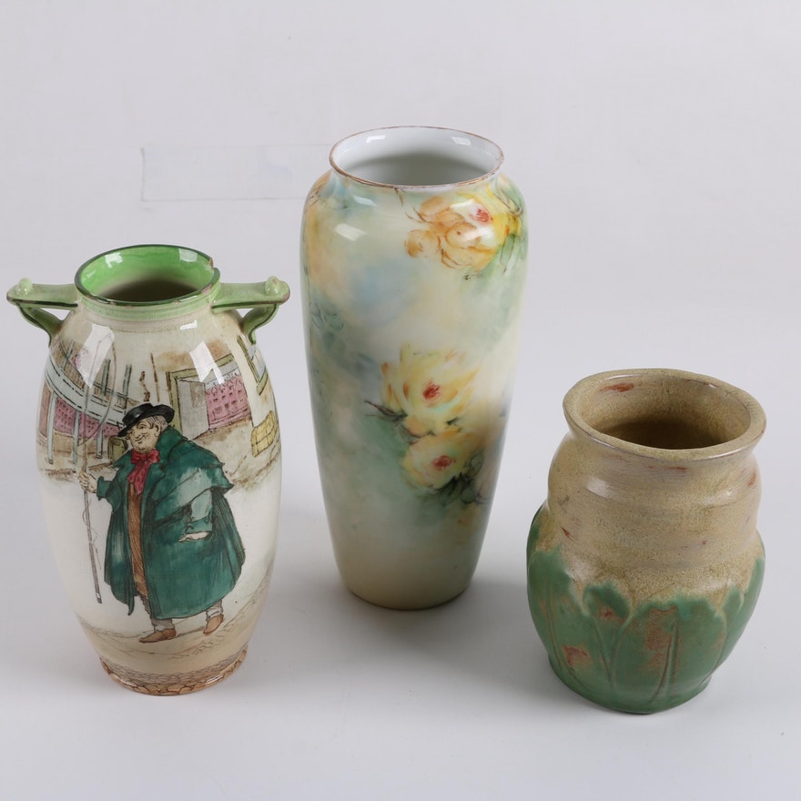 Royal Doulton Dickens Ware And Rosenthal Vases Ebth