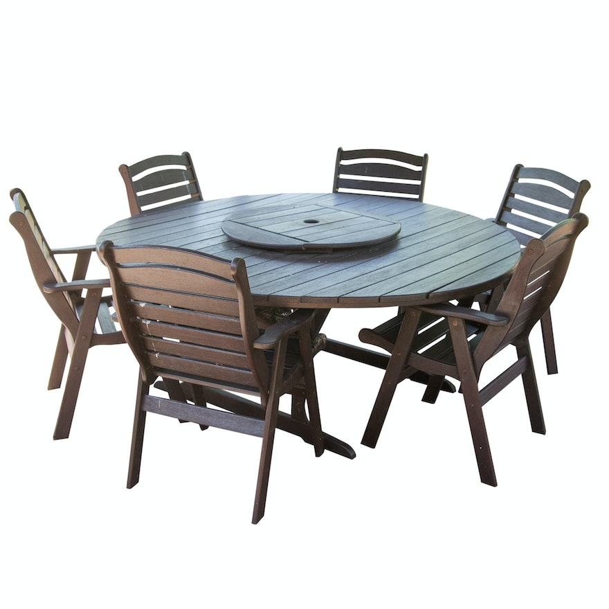Jensen Jarrah Outdoor Table And Chairs Ebth