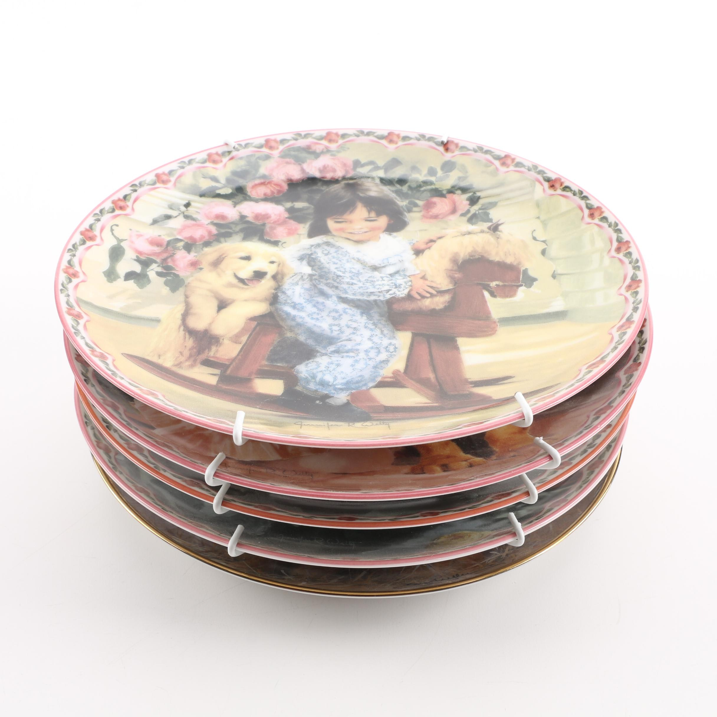 "Bradford Exchange ""Me and My Shadow"" by Jennifer Welty Limited Edition Plates"