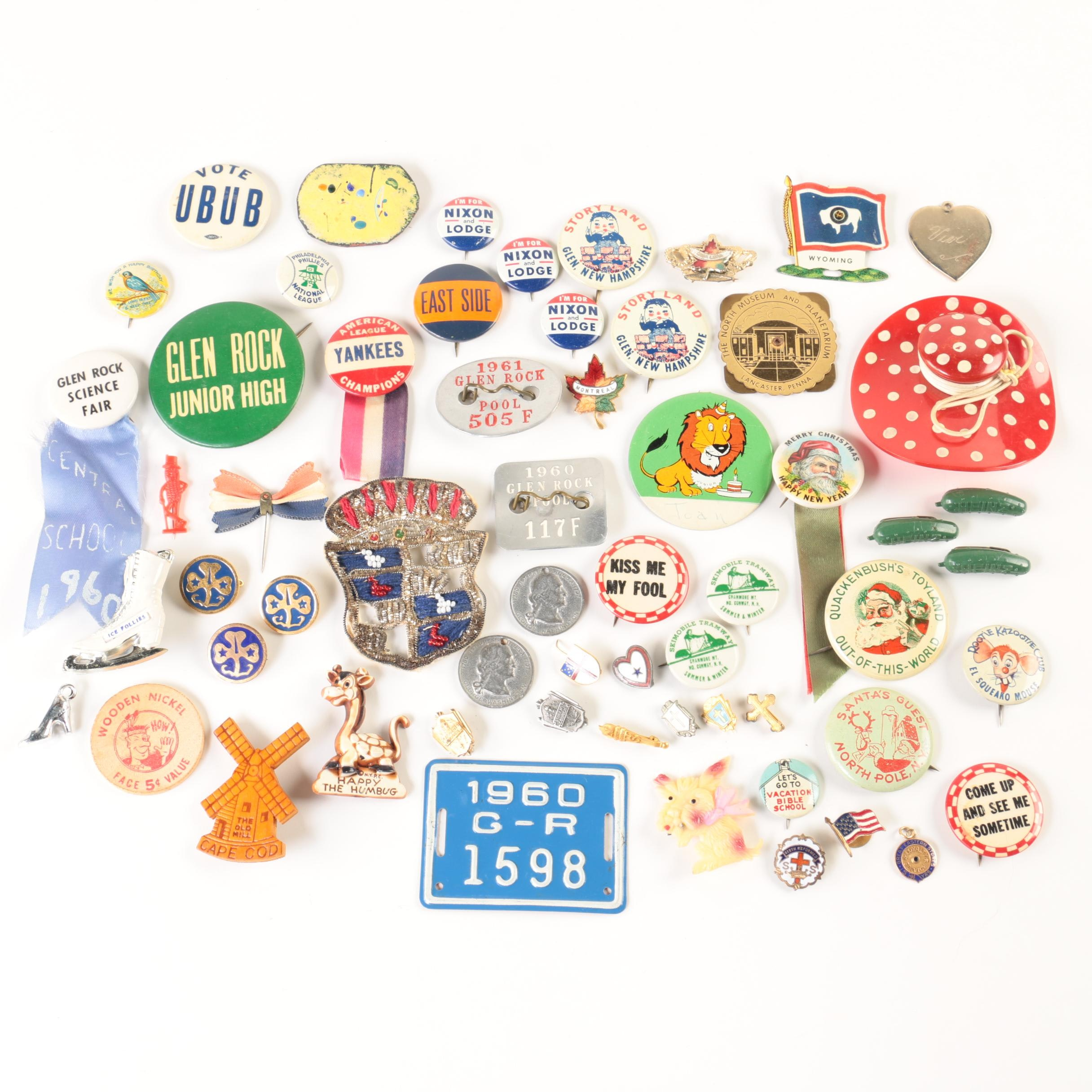 Vintage Political and Other Pinbacks