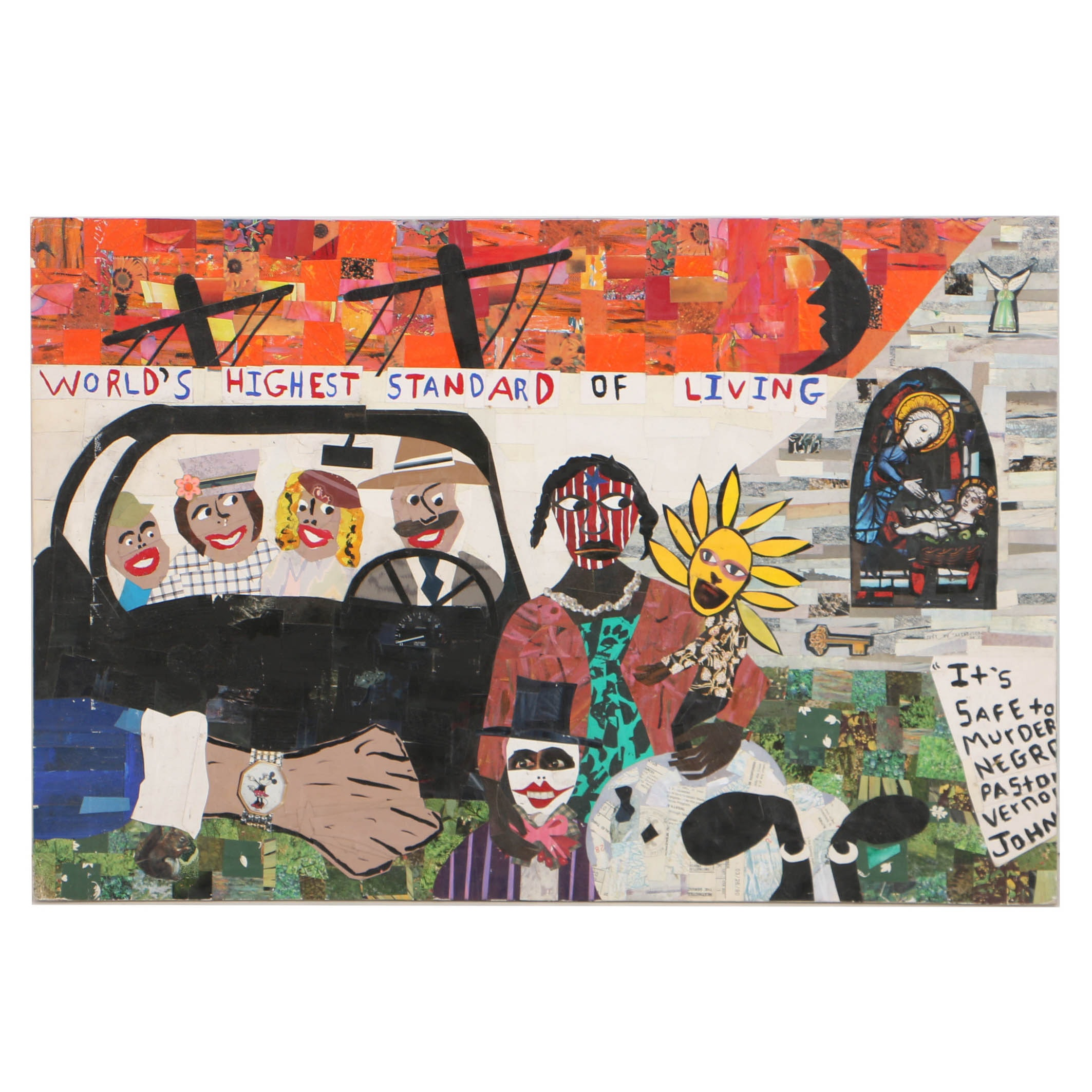 Jeff Zets Mixed Media Collage on Board