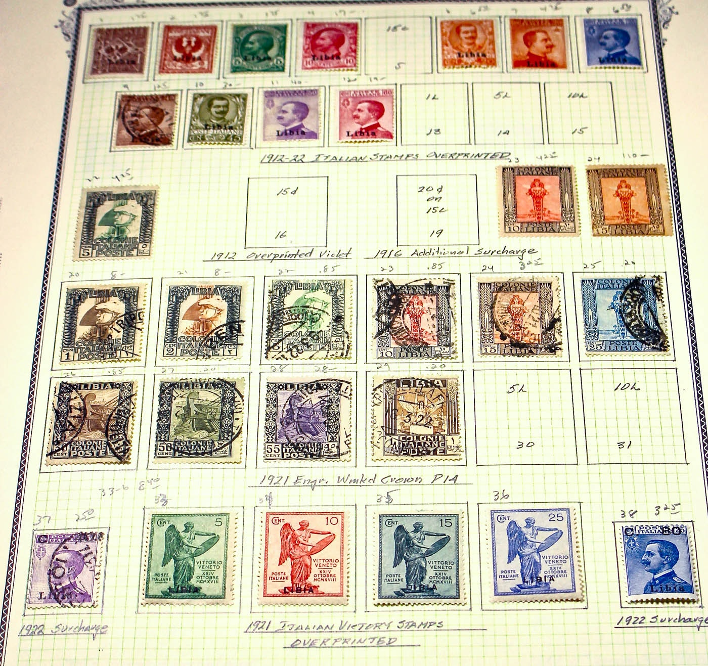 Collection of Approximately 100 Antique and Vintage Stamps from Libya