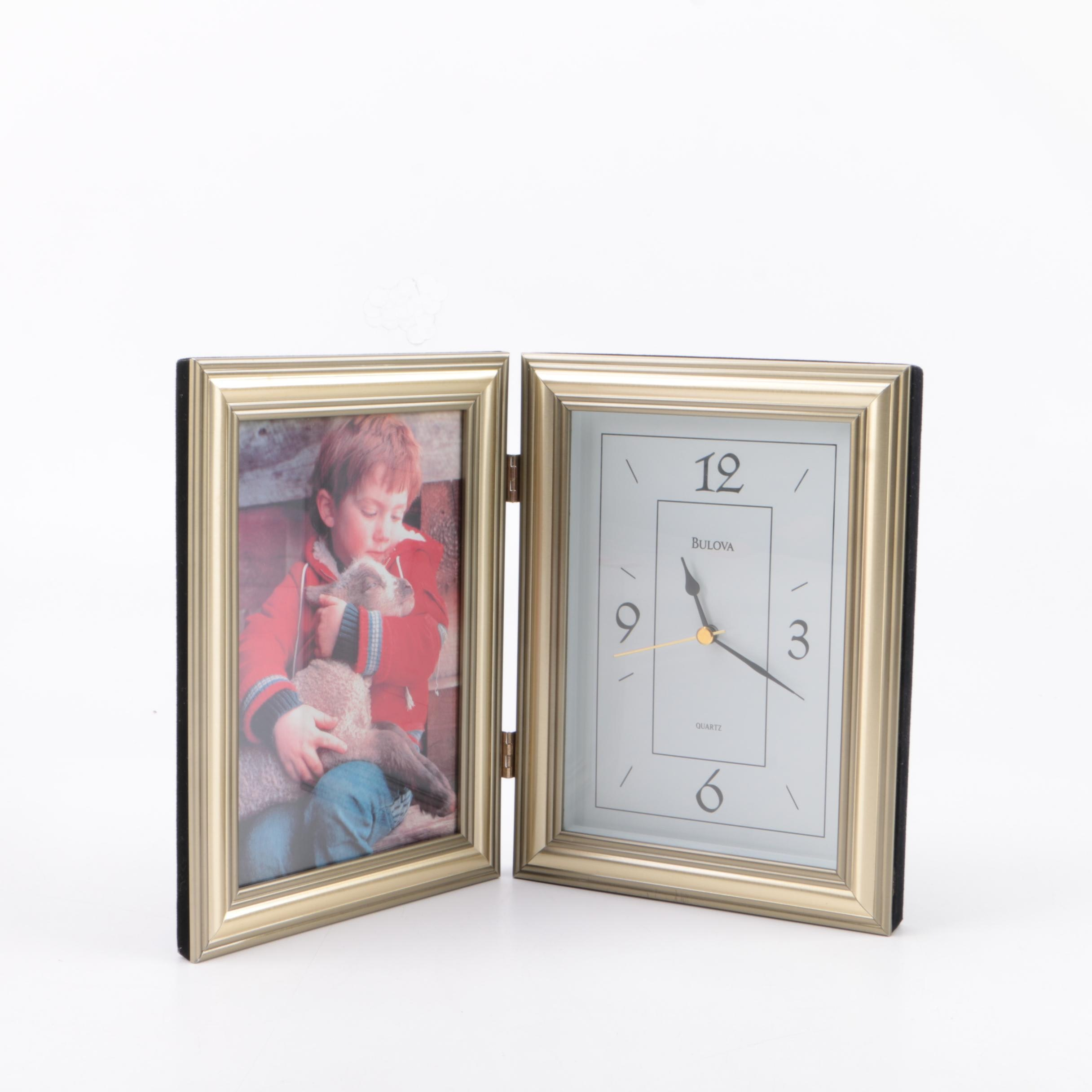 Bulova Clock and Picture Frame