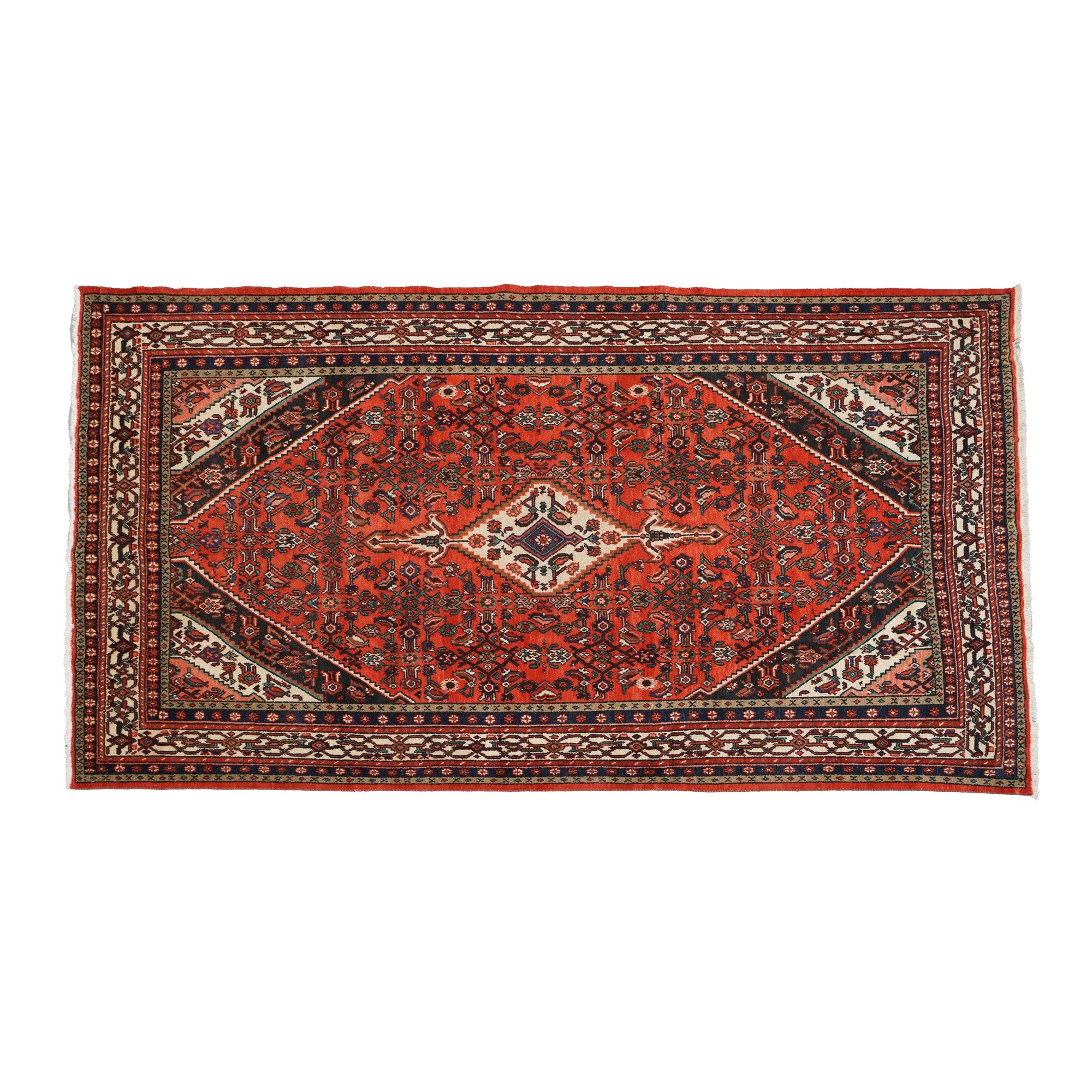 Hand-Knotted Persian Kashan Room Sized Rug