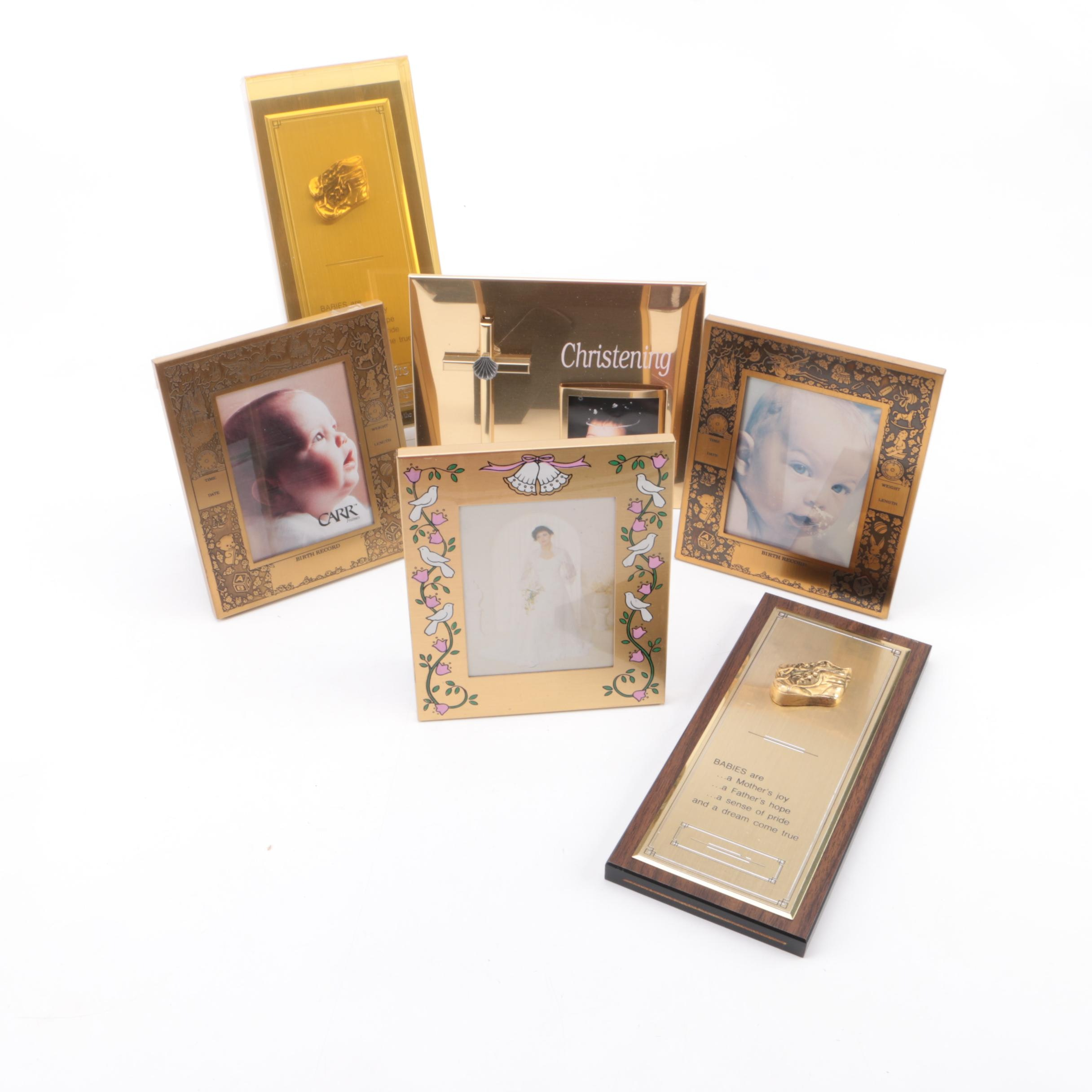 Baby, Wedding, and Christening Themed Photo Albums and Frames