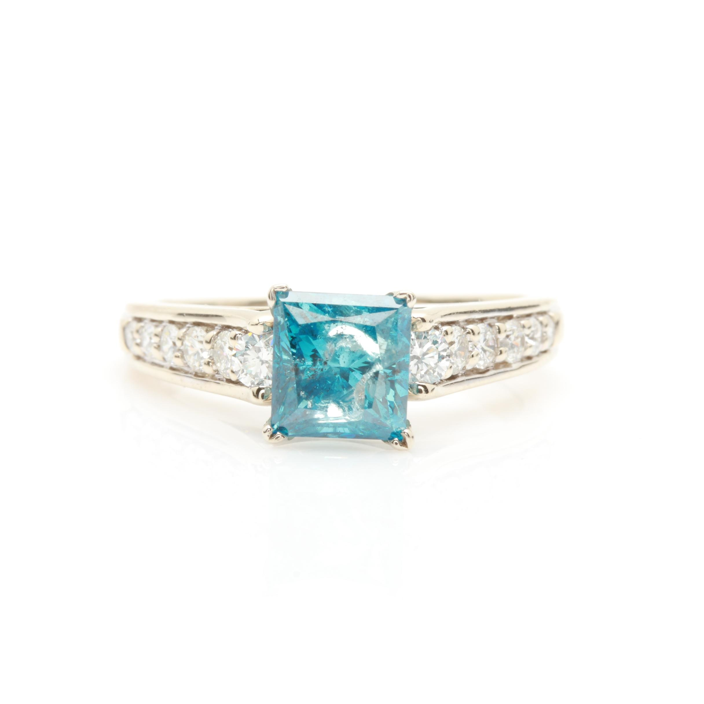 14K White Gold 2.06 CTW Diamond Ring