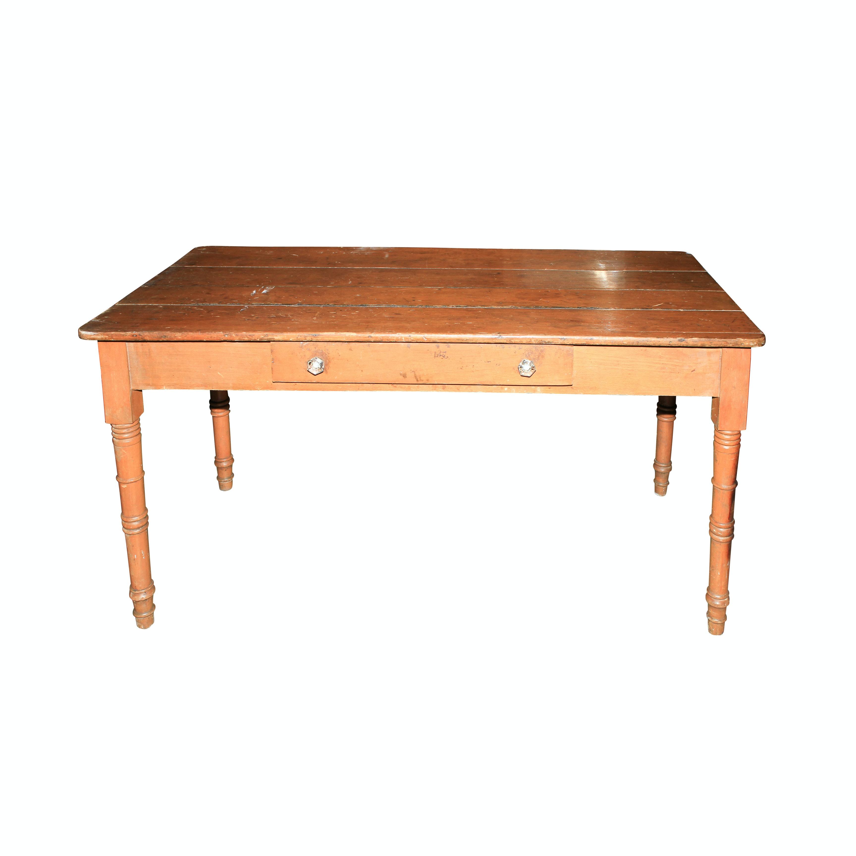 Farmhouse Style Wooden Table