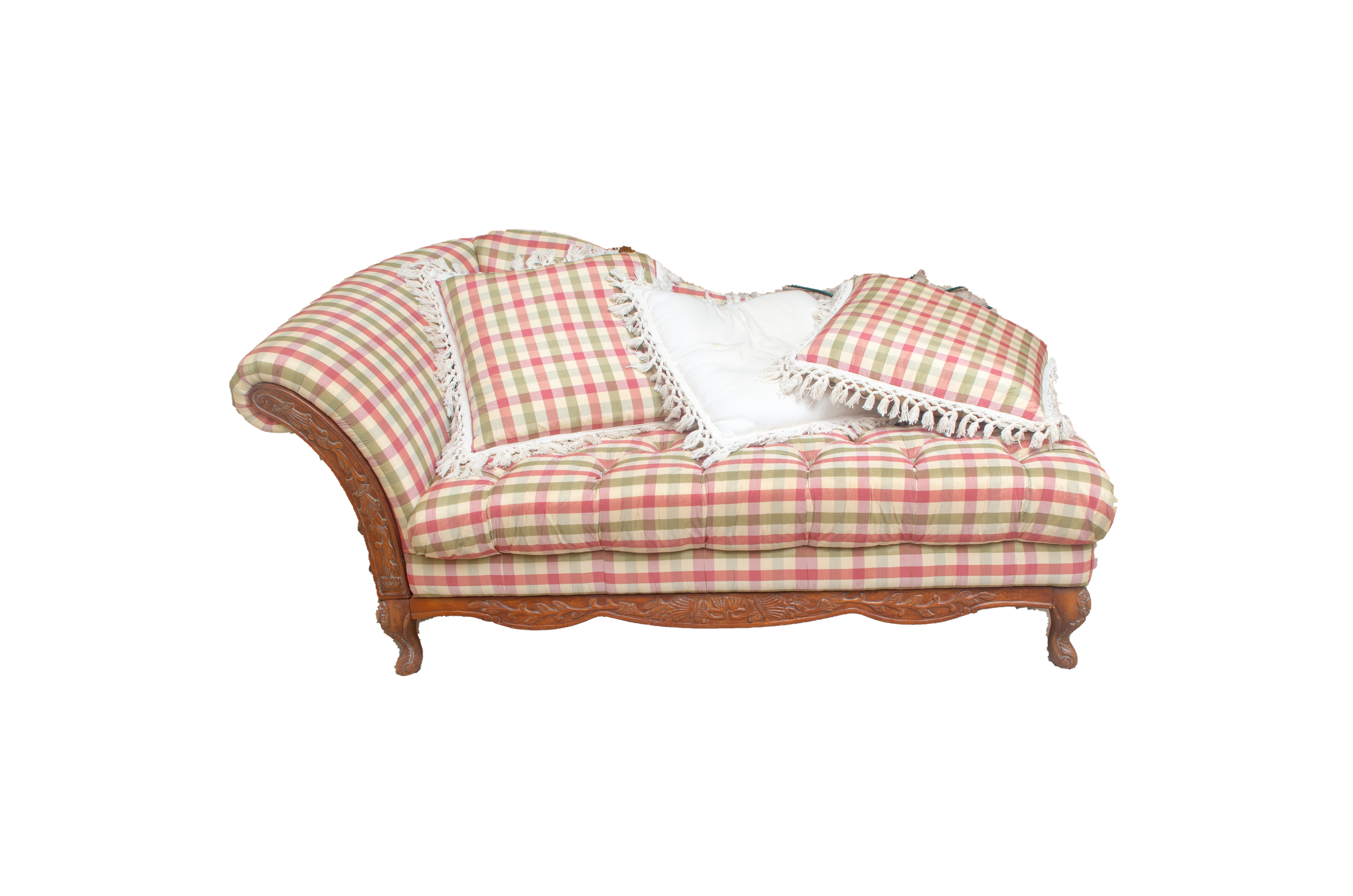Gingham Chaise Lounge