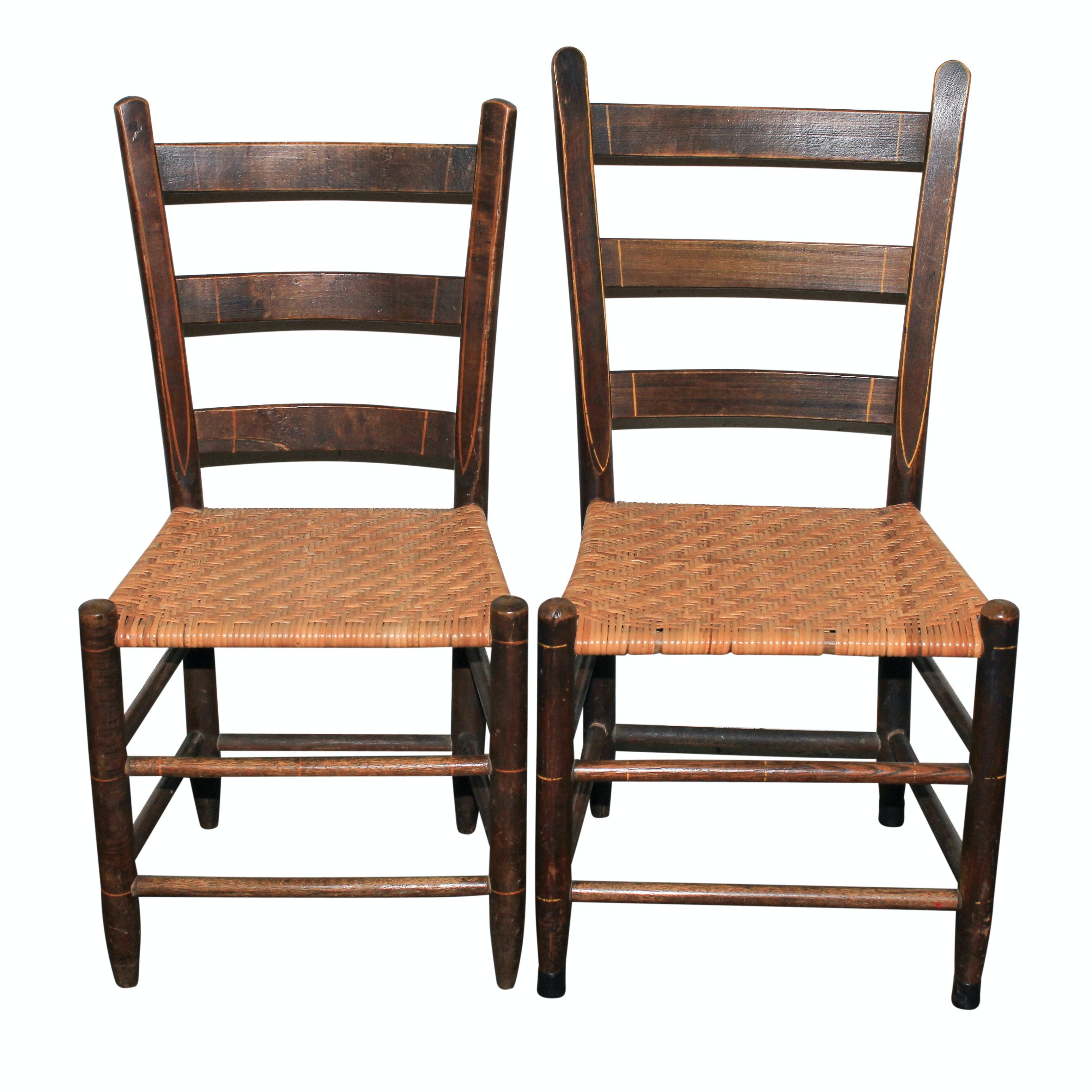 Vintage Ladder Back Side Chairs