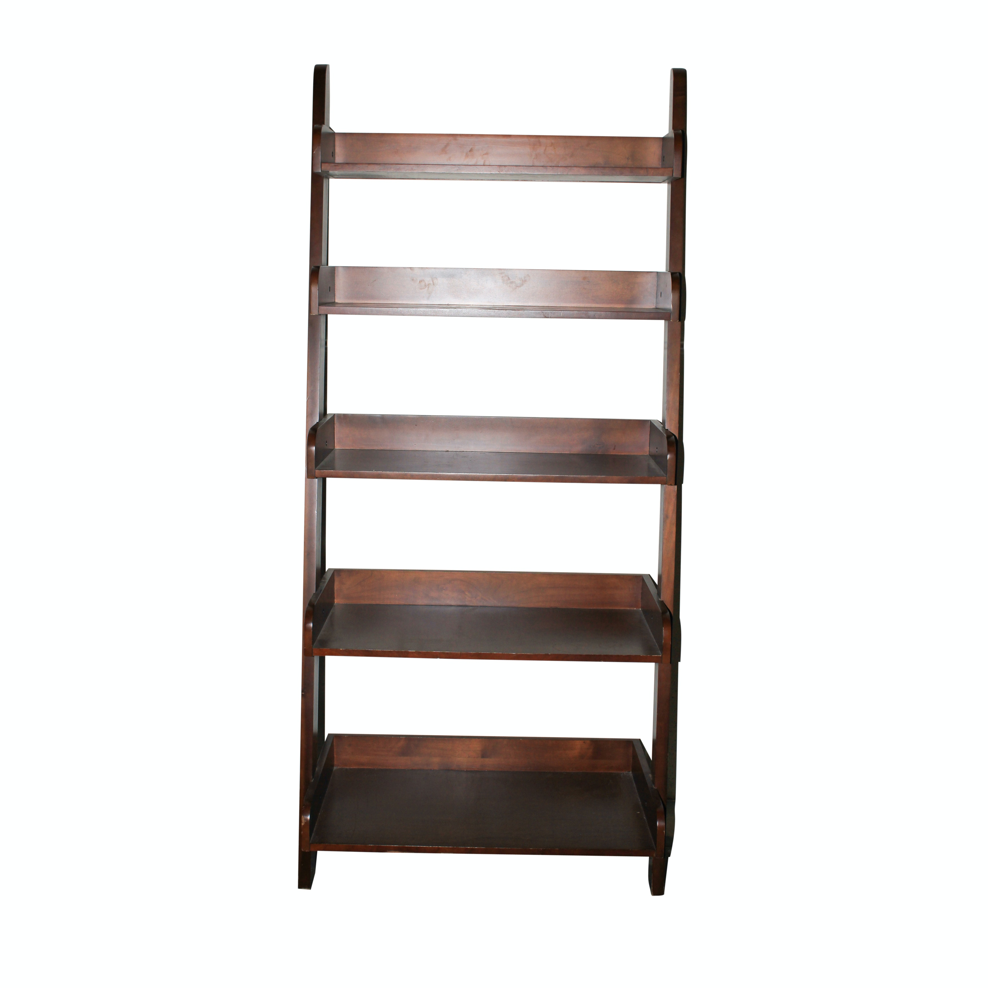 Contemporary Five Tier Ladder Bookcase