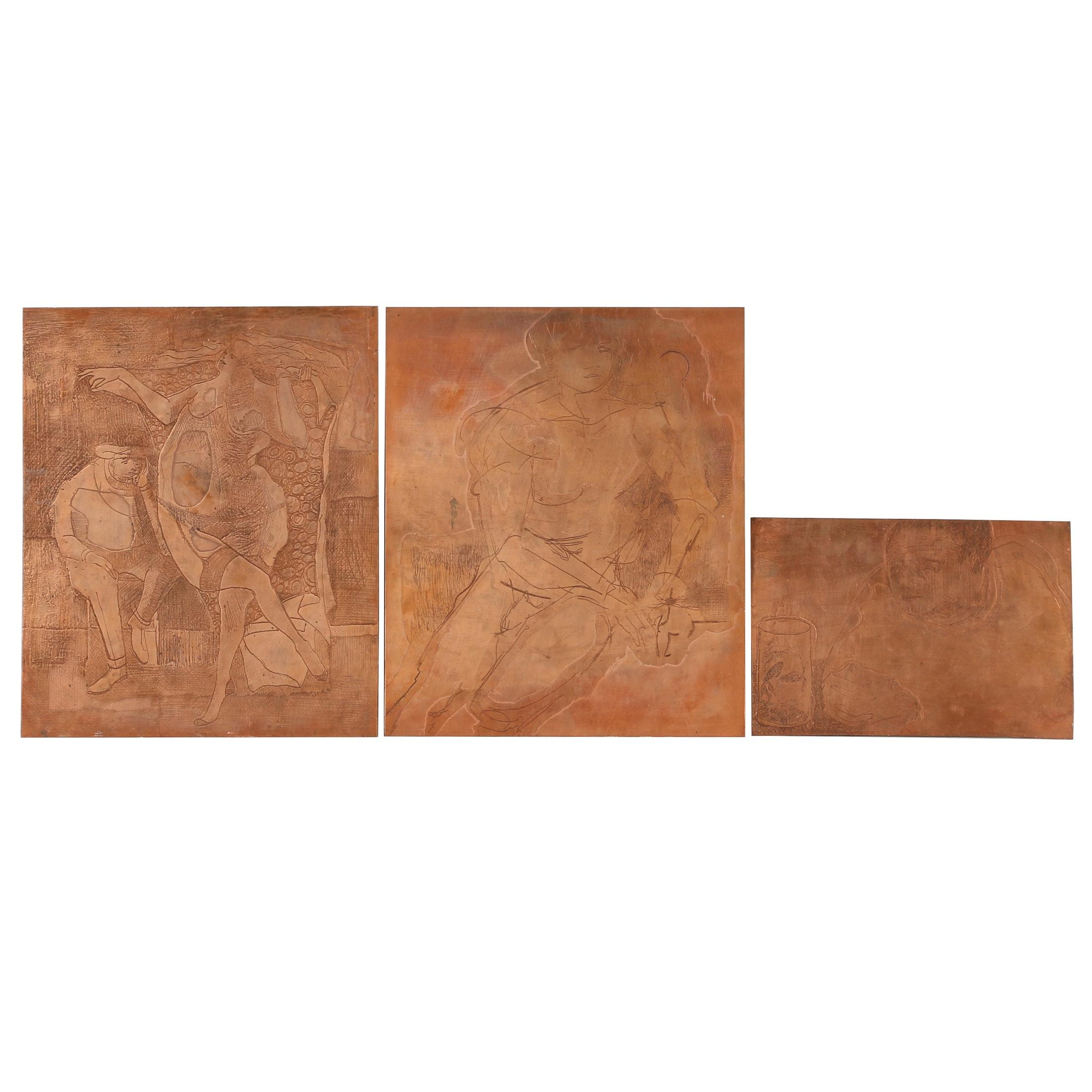 John Tuska Etched Copper Plates
